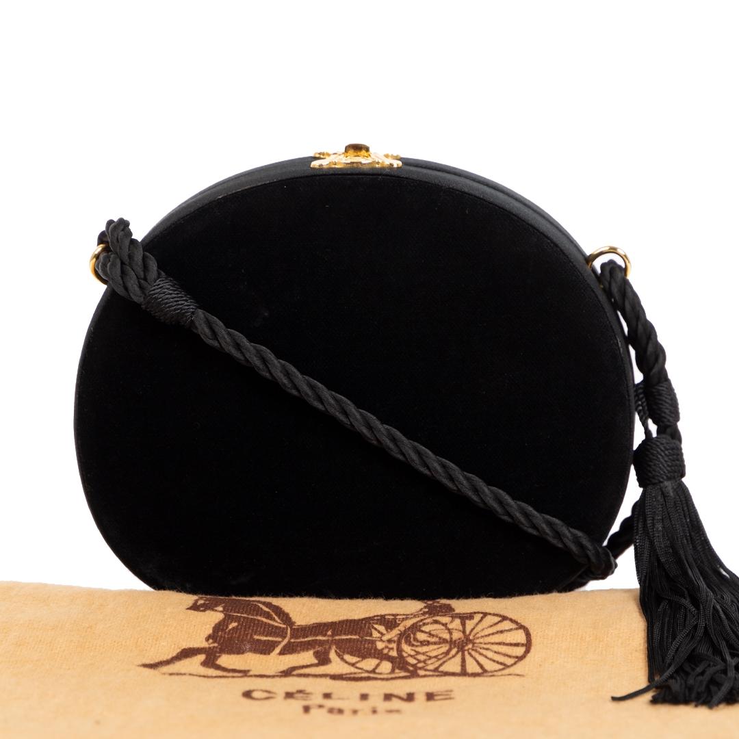 Celine Black Velvet Case Crossbody Bag