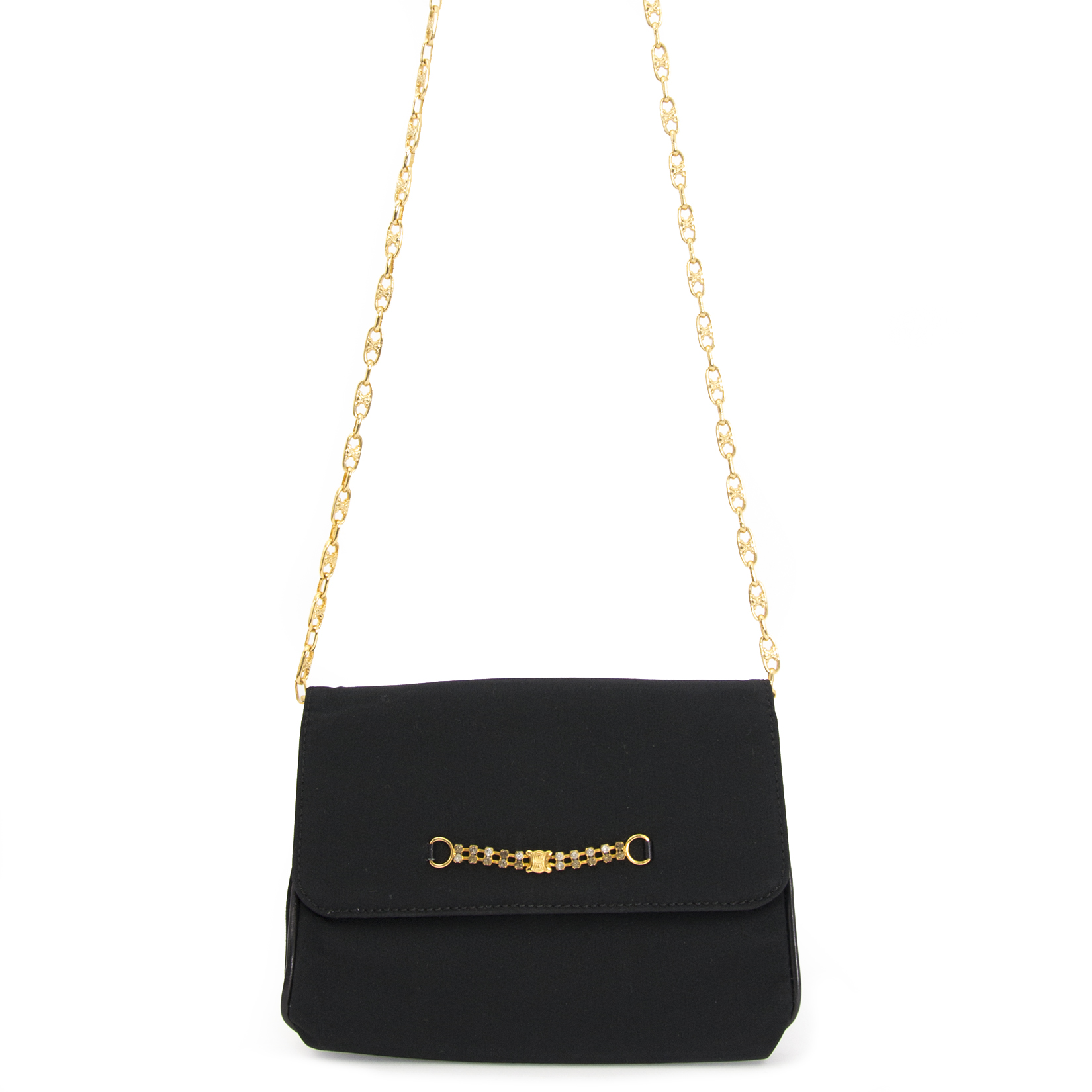 Achetez maintenant en ligne votre second main Céline Black Fabric Evening Bag chez labellov.com