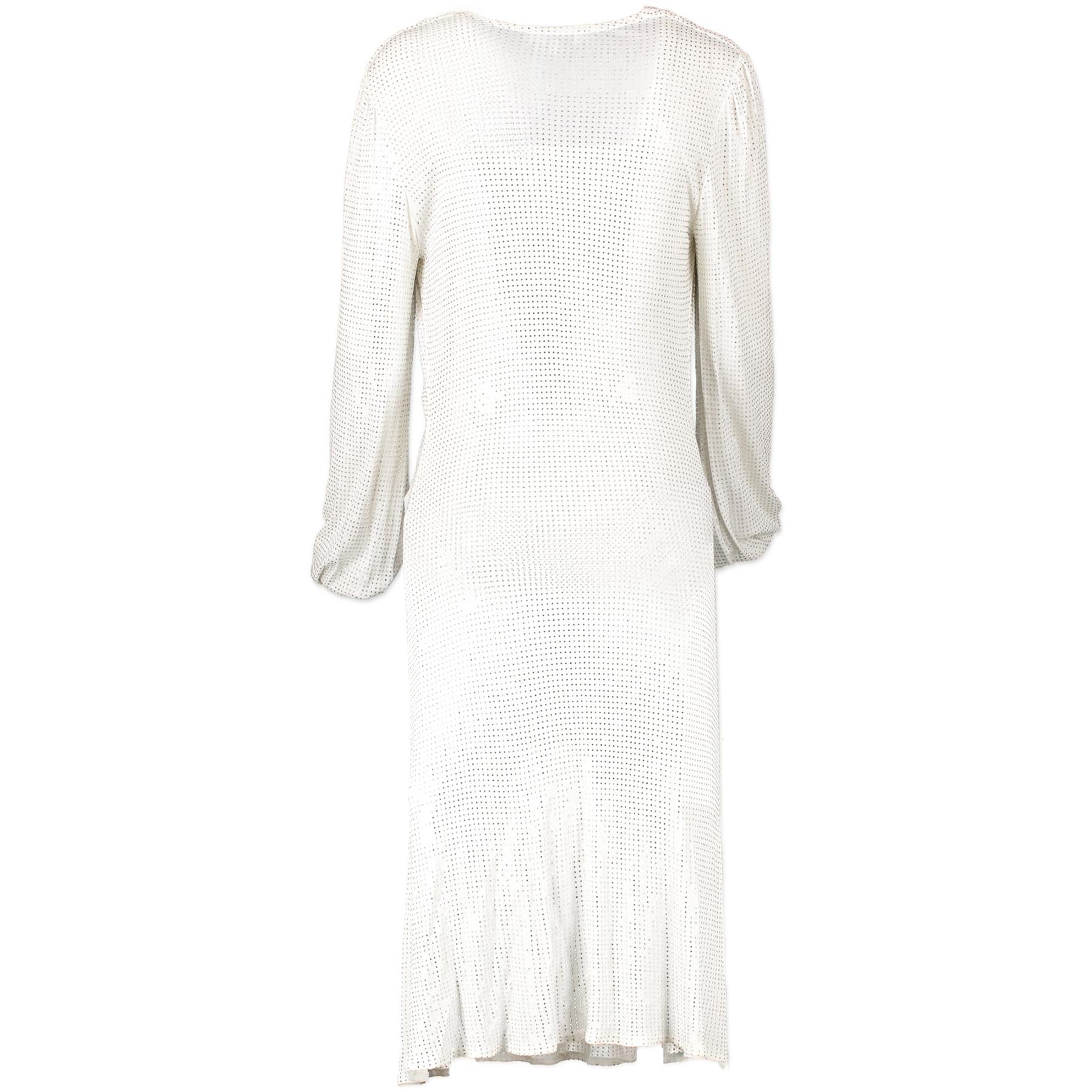 Celine White Dress With Swarovski Rhinestones