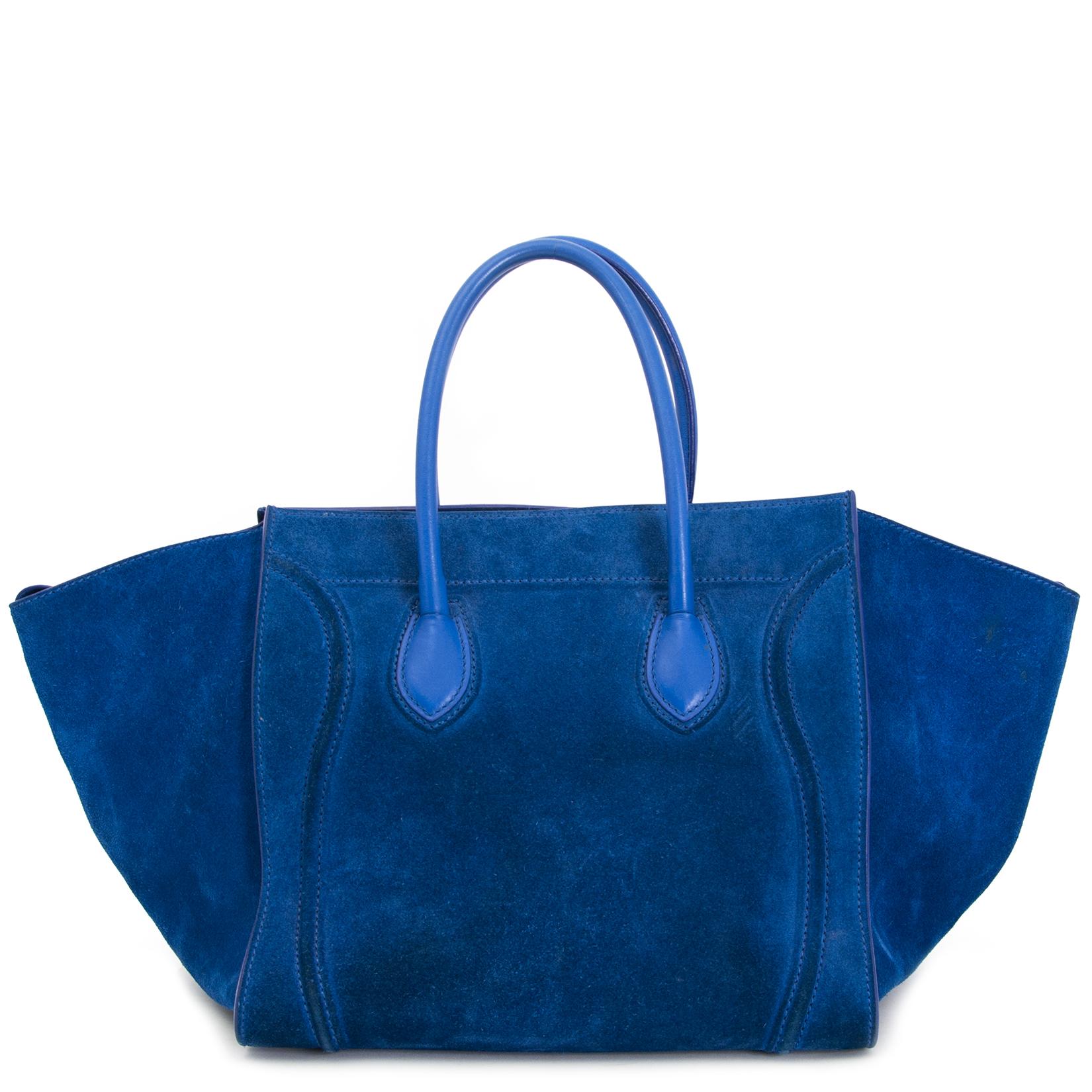 Buy your preloved Céline Cobalt Blue Suede Phantom Cabas