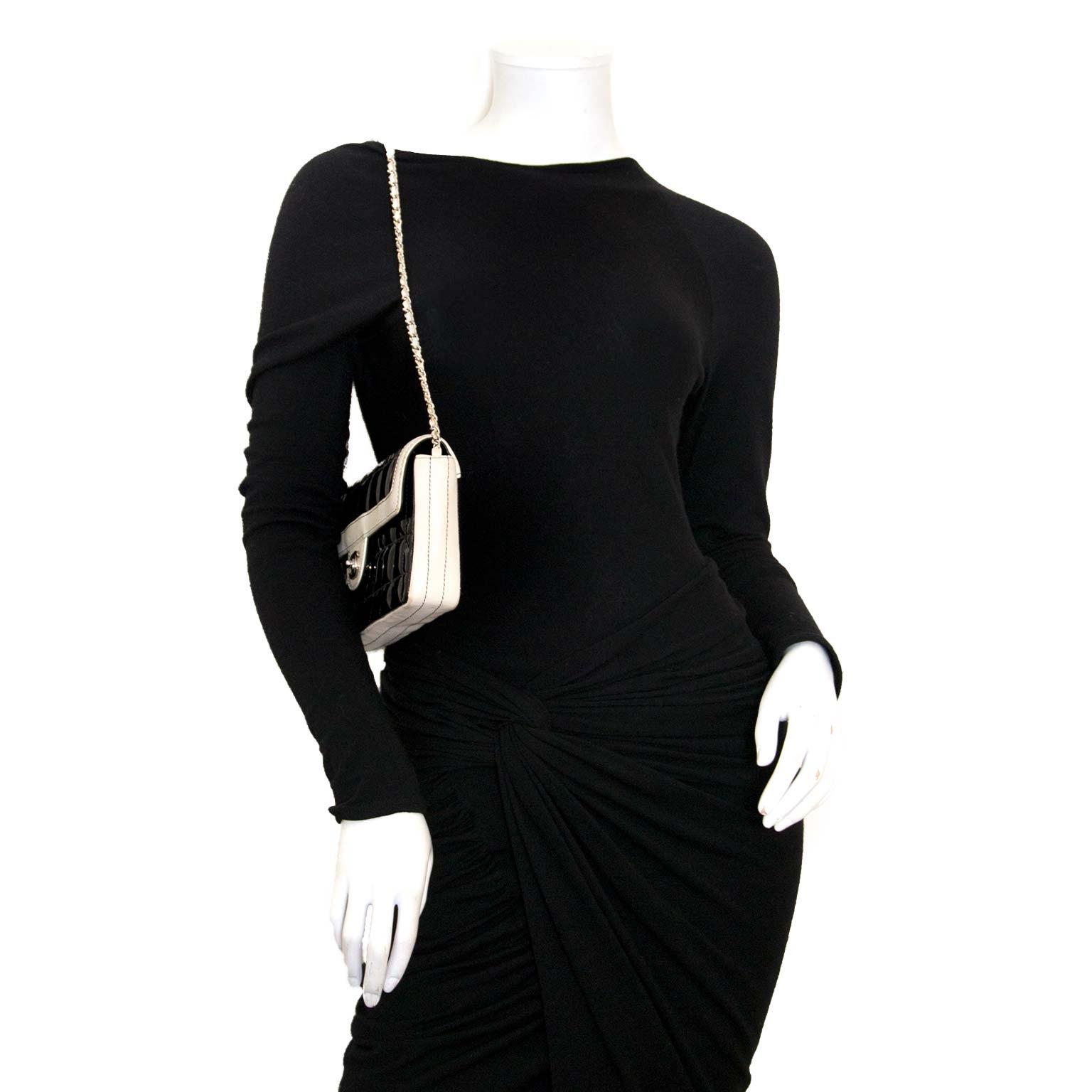 Chanel Black Patent Cube Shoulder Bag te koop