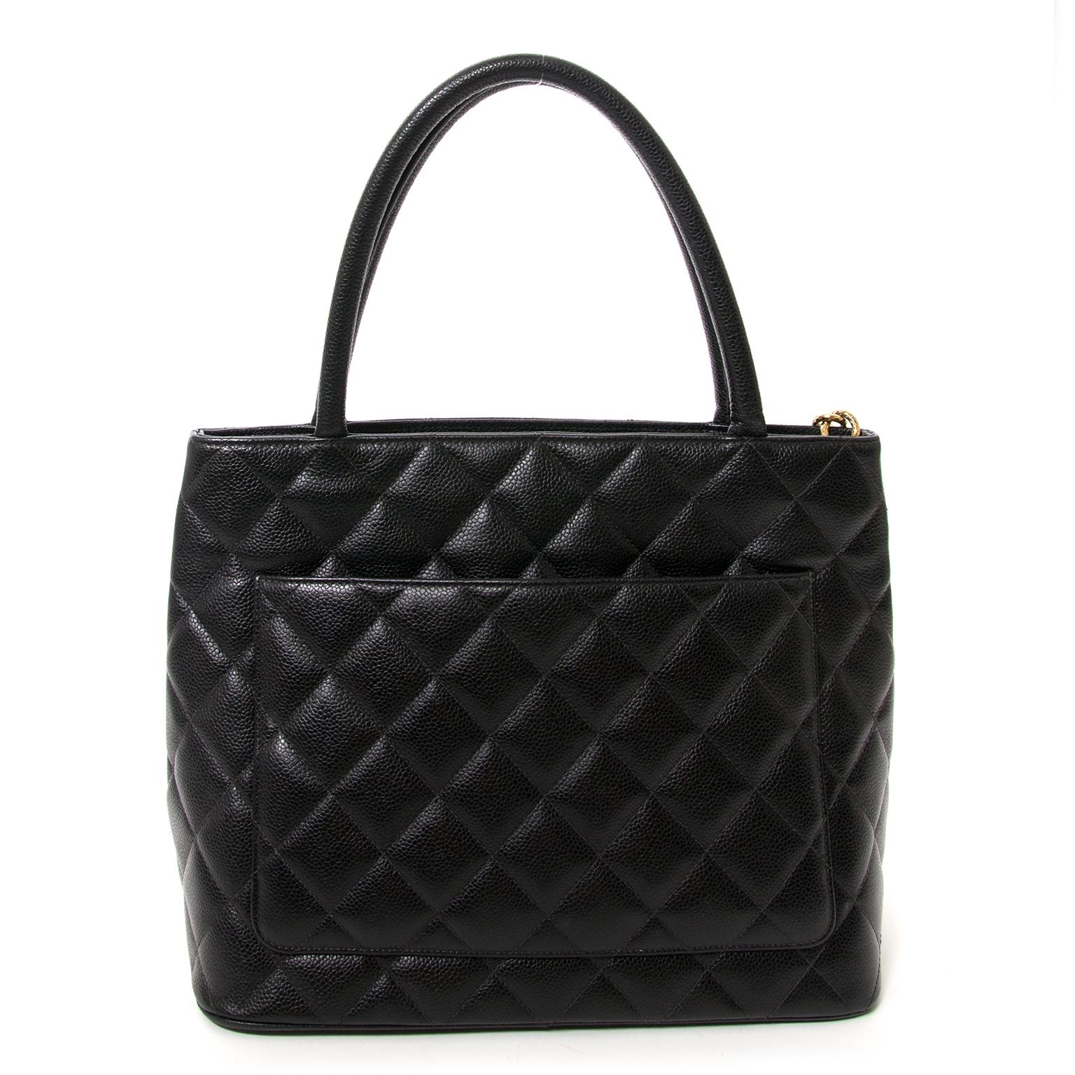 76722348520c ... chanel grand cc classic black shopper now for sale at labellov vintage  webshop belgium
