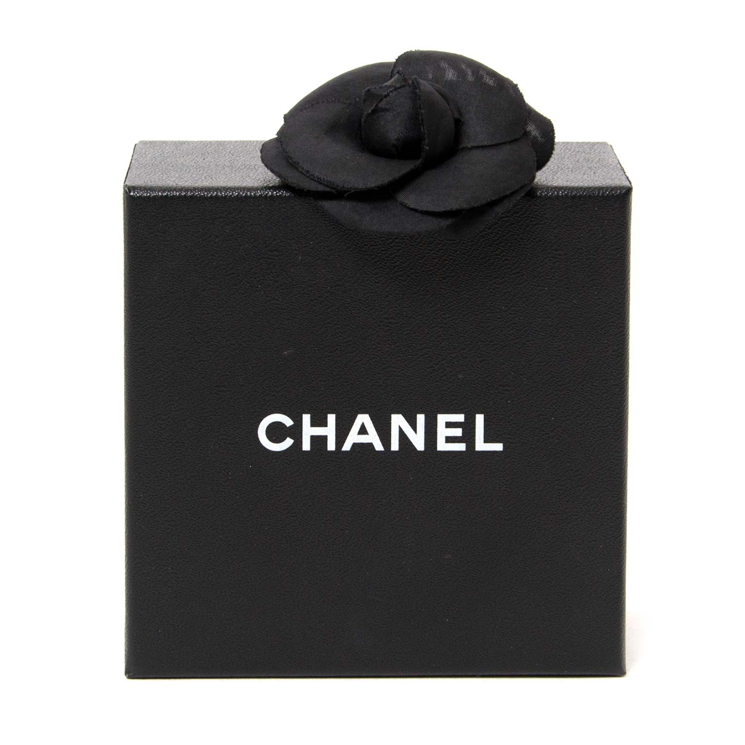chanel black satin camelia brooch now for sale at labellov vintage fashion webshop belgium