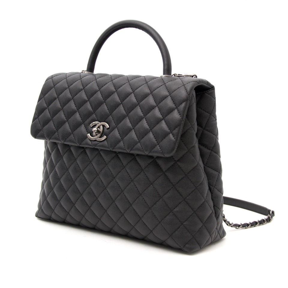 searching for the perfect christmas gift ? Brand New Chanel Coco Top Handle Bag Quilted Caviar Medium
