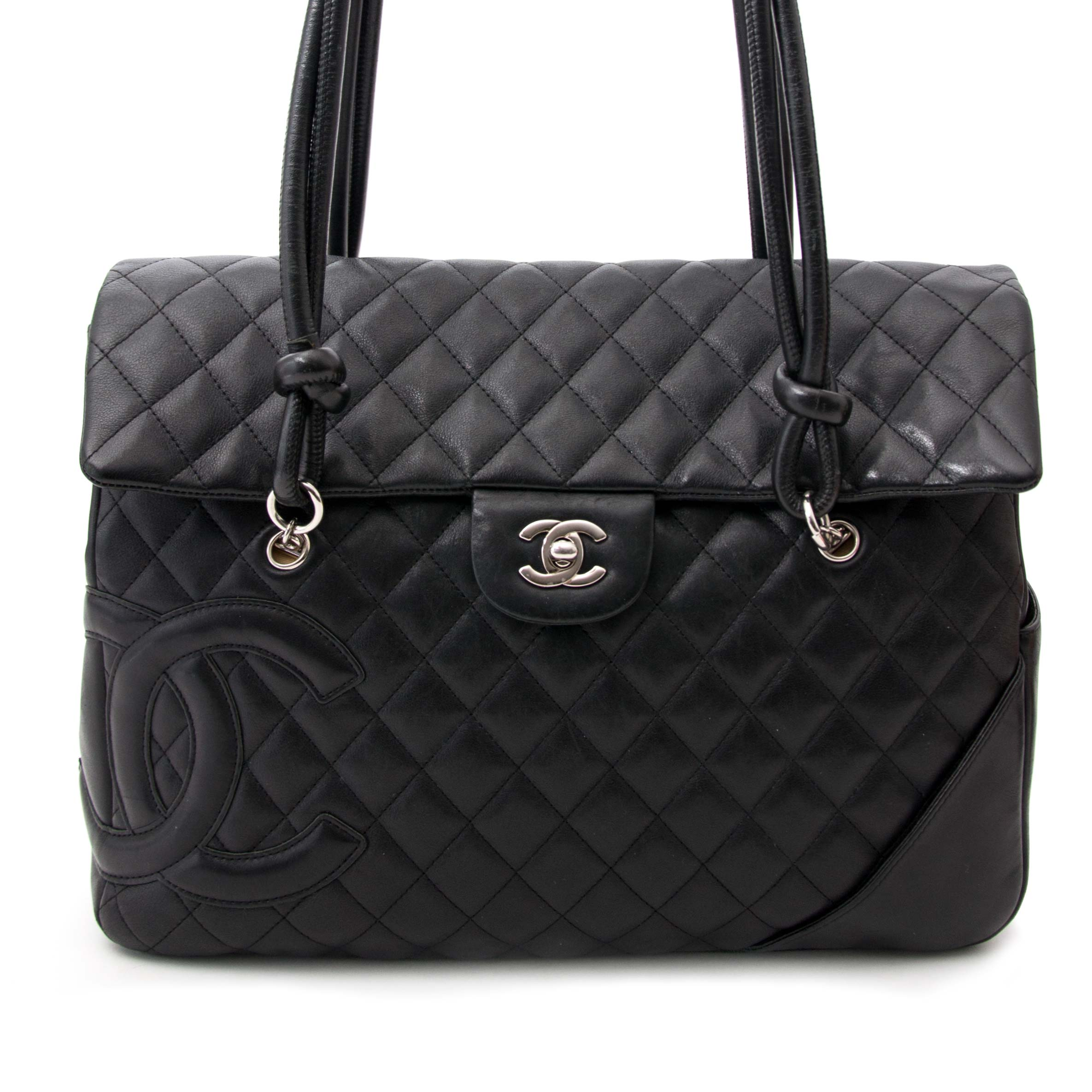 buy safe and secure online at labellov.com for the best price chanel black shopping tote