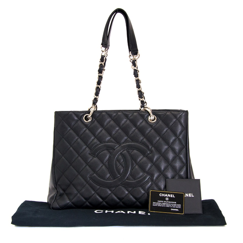 ... koop online aan de beste prijs Chanel Black Caviar GST Grand Shopping  Tote 34602b3ea1