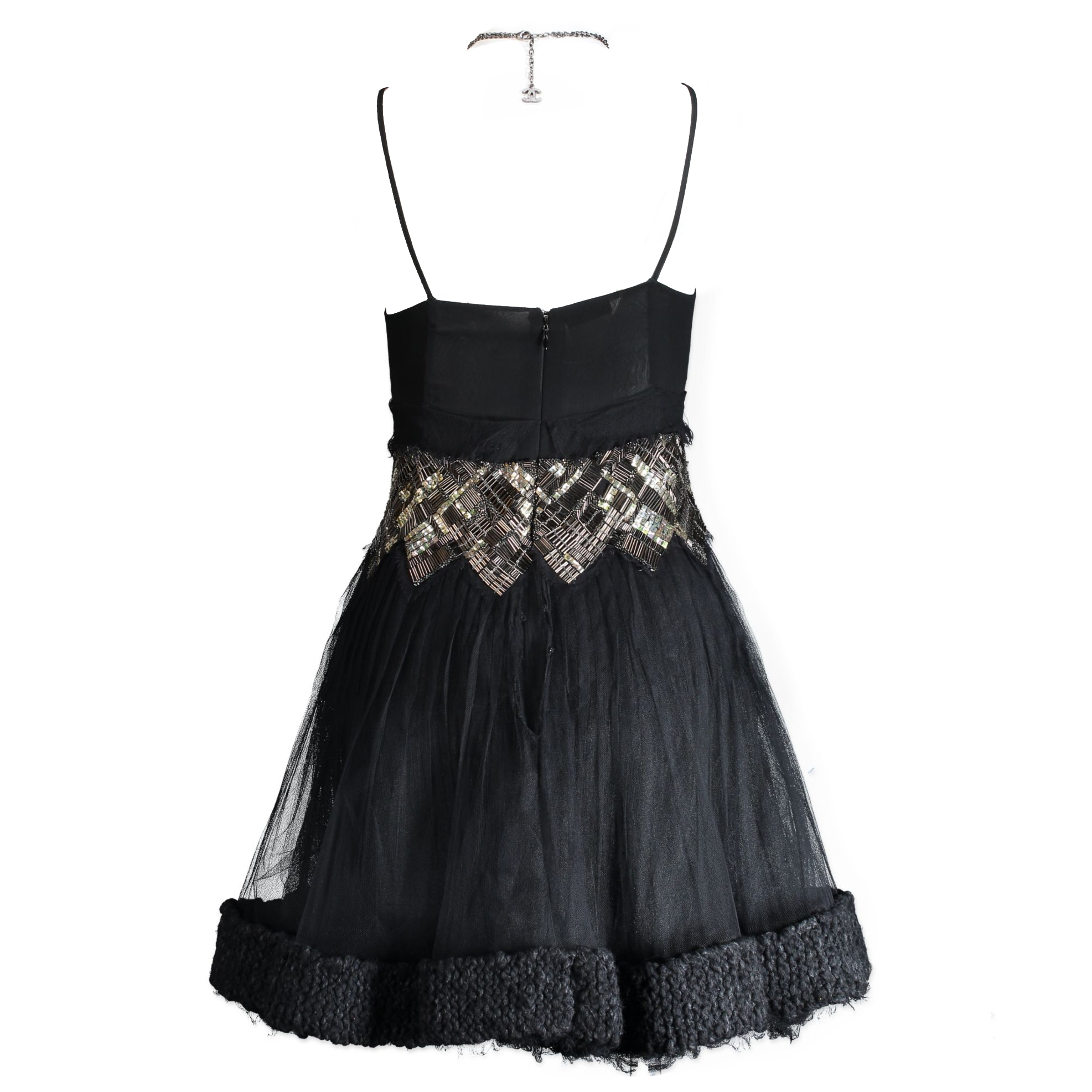 Chanel Rare Black Cocktail Dress - Size FR 38
