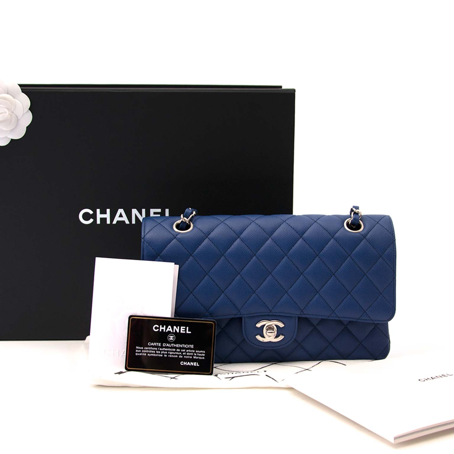 3370a5c46d2 ... at labellov.com nieuwe chanel blue classic double flap bag phw nu te  koop bij labellov.com