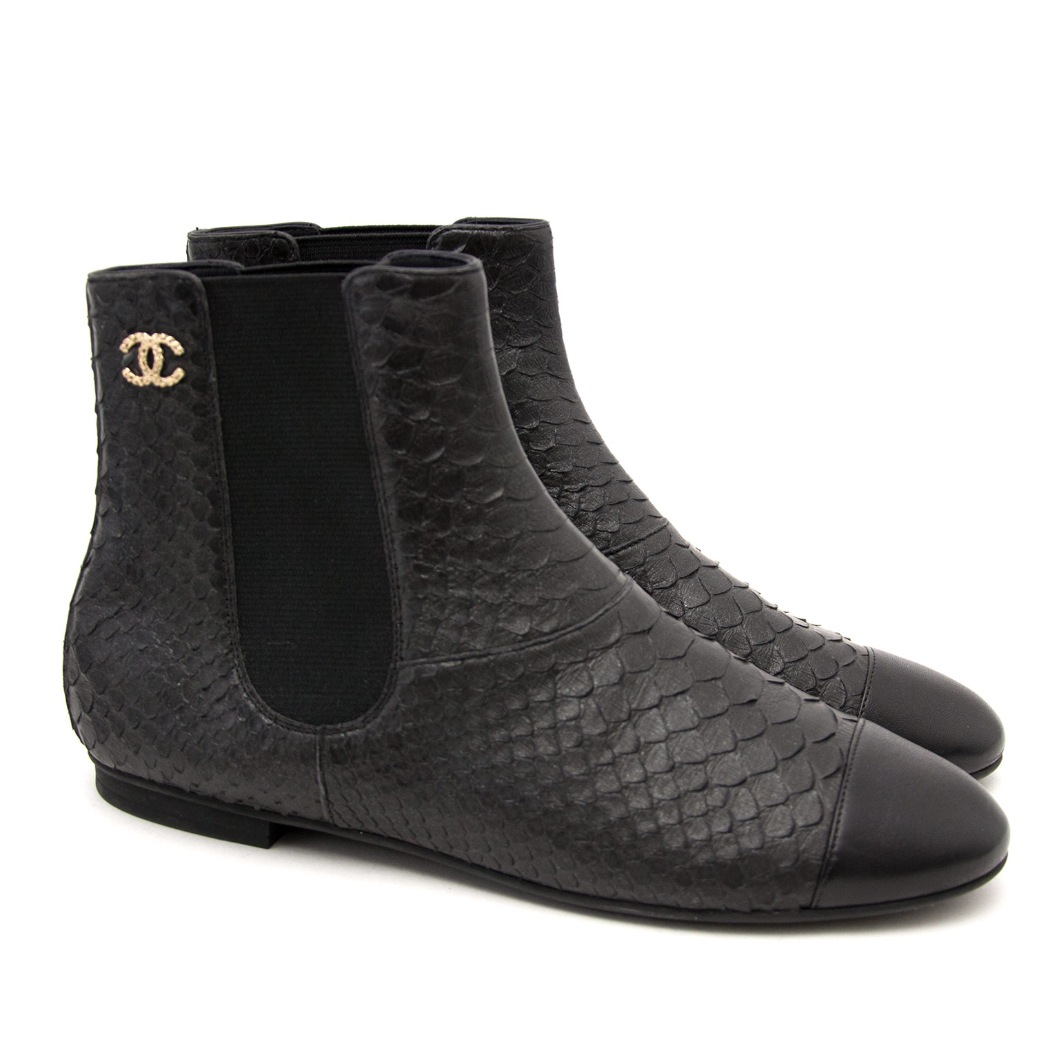 100% authentic Chanel Python Ankle Boots for the best price available online at Labellov