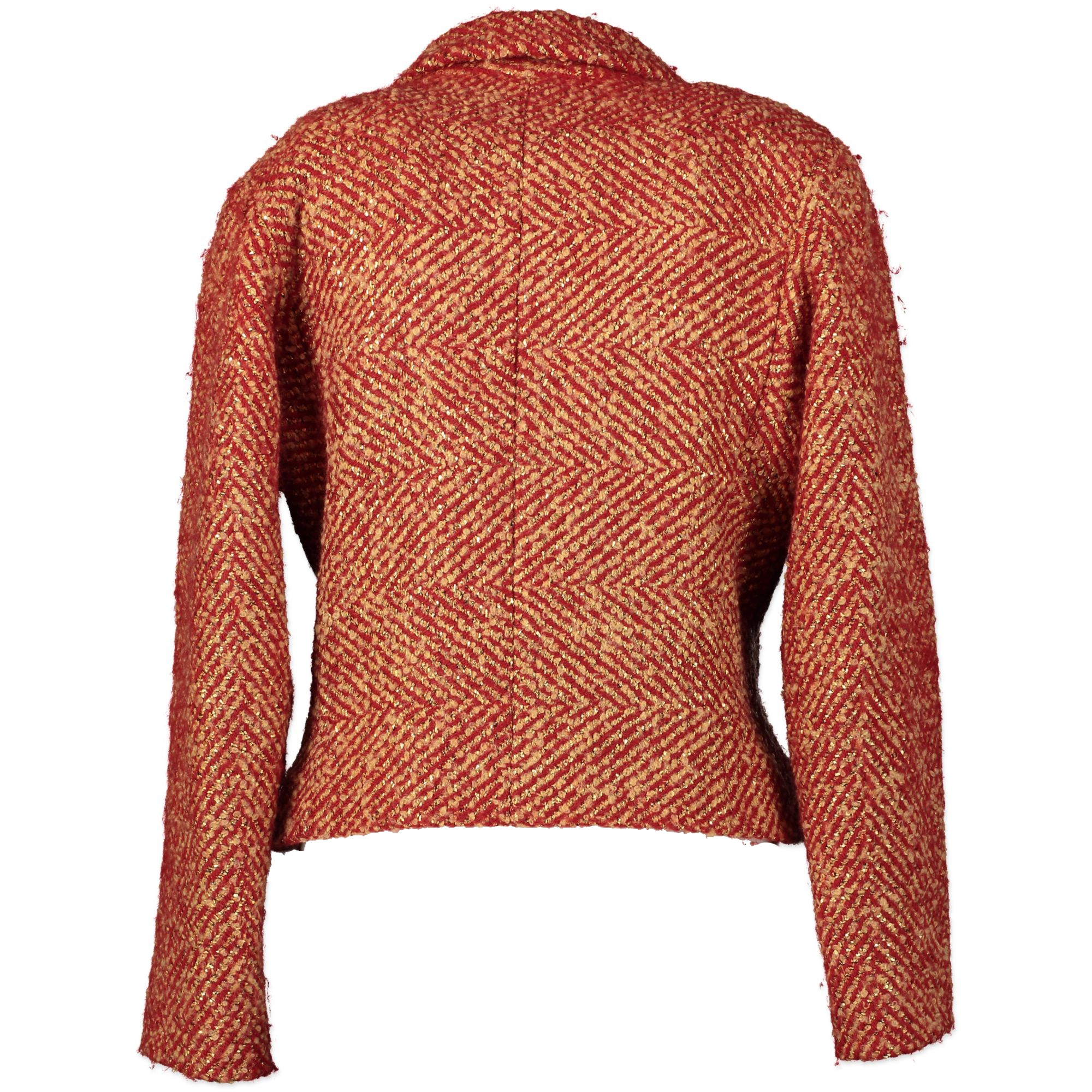 Chanel Red and Gold Bouclé Vest  for the best price online