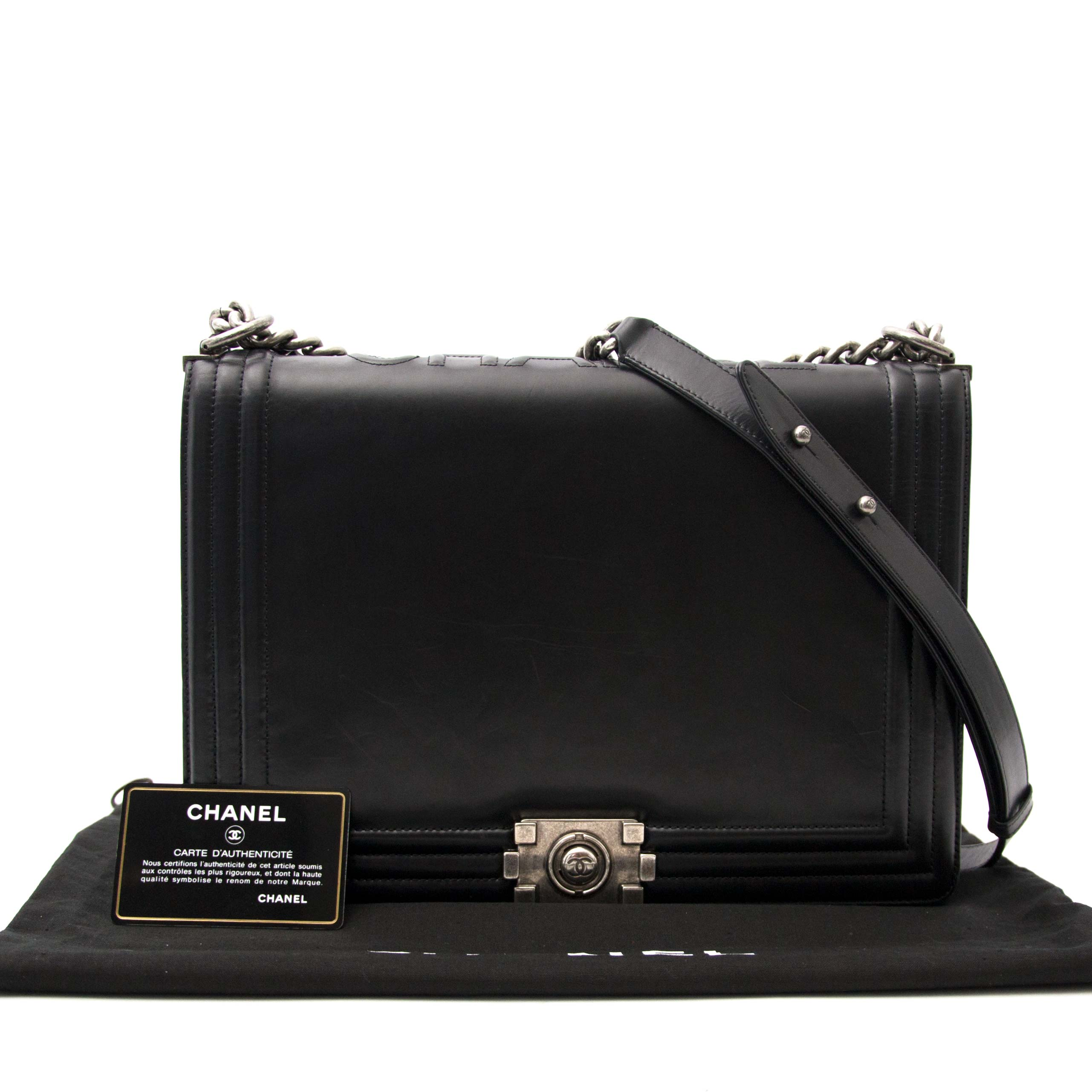 koop online aan de beste prisjChanel Black Large Le Boy Flap Bag