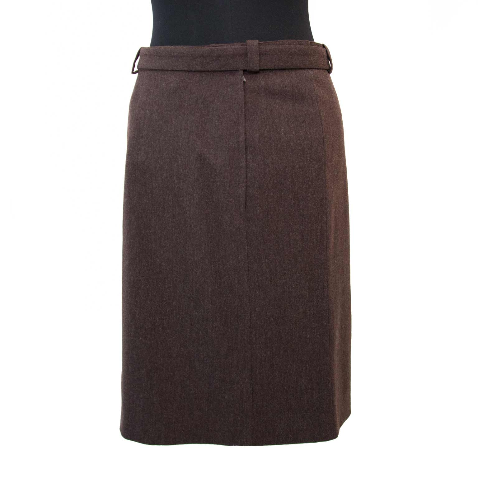 Shop safe online aan de beste prijs Chanel Brown Wool Skirt