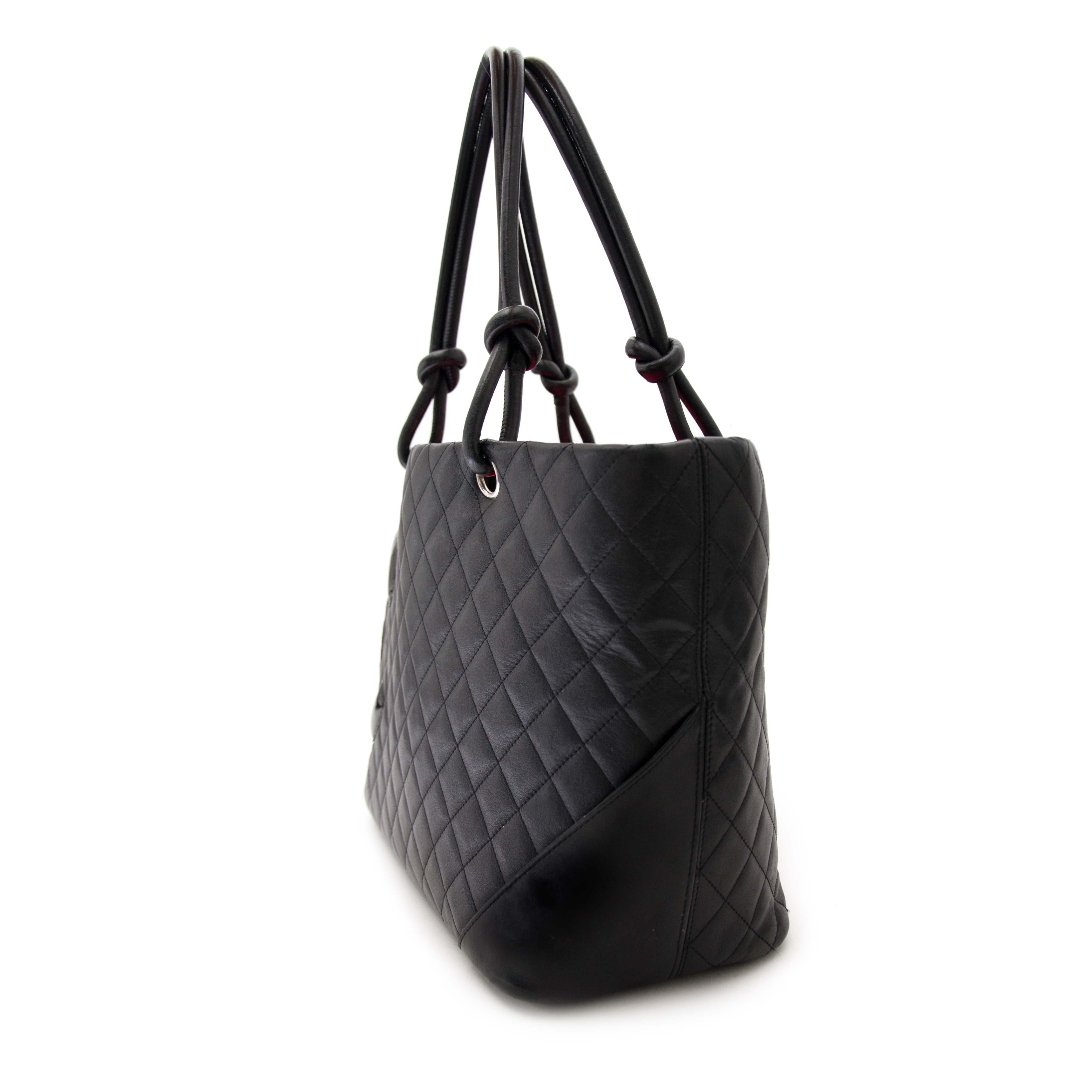 acheter en ligne pour le meilleur prix Chanel Black Cambon Shopping Tote