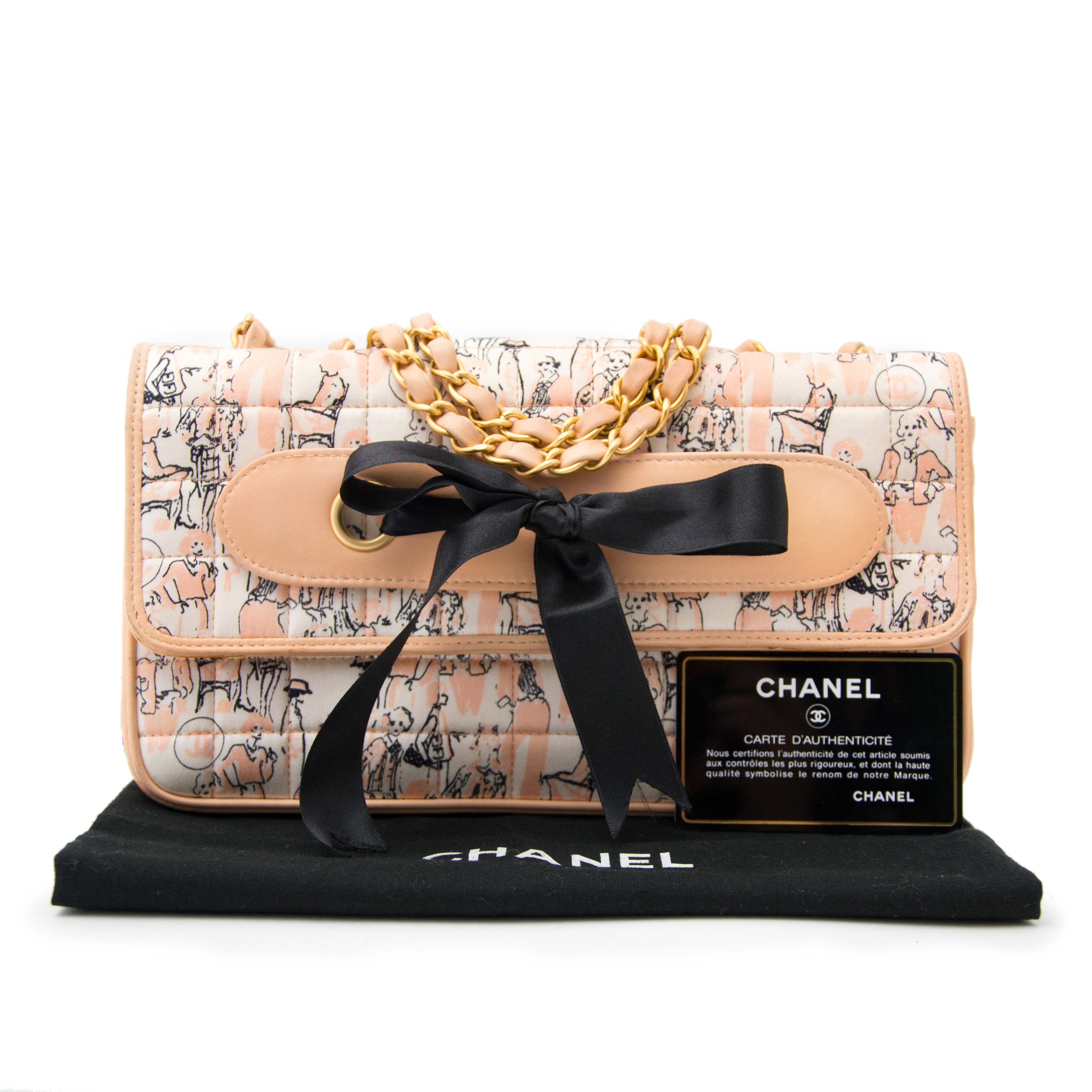 chanel printed quilted bow bag now online for the best price at labellov.com