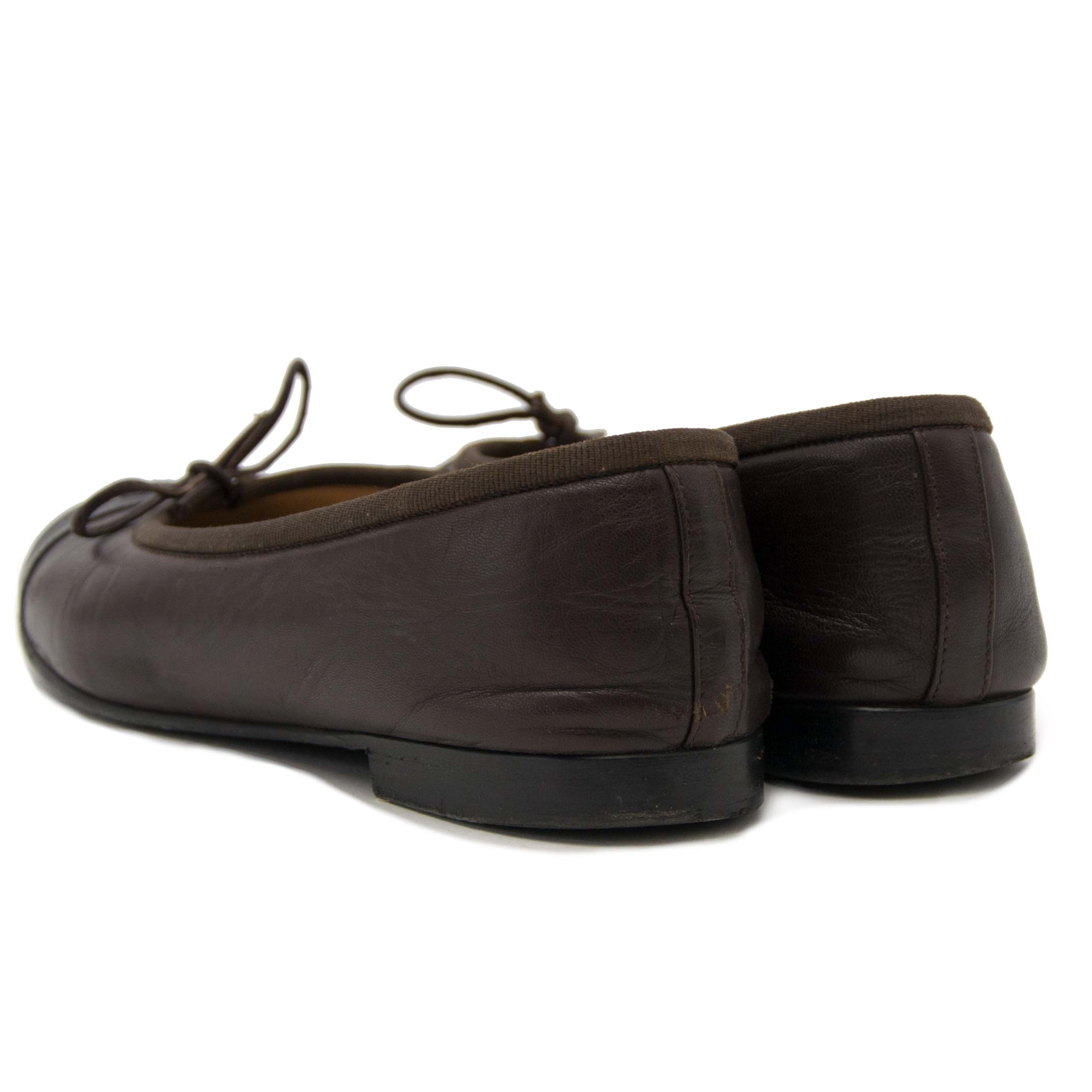 Chanel Black and Brown Ballerina Flats te koop