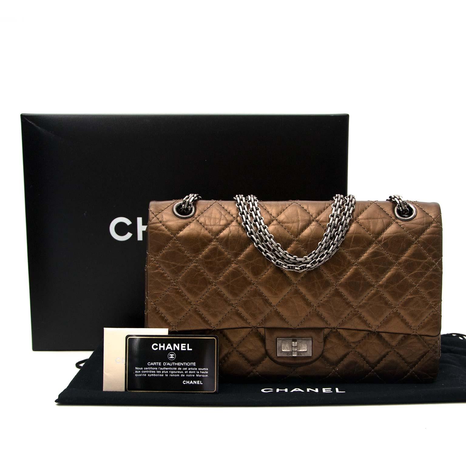 shop safe online Chanel Bronze Aged Calfskin 2.55 Reissue -226