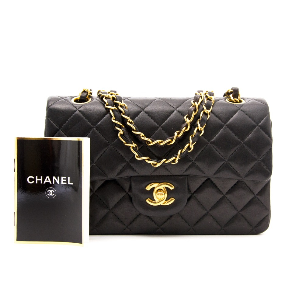 ... acheter en ligne seconde main sac a main Chanel Black Classic Double  Flap Bag anvers et 76964ceb299a