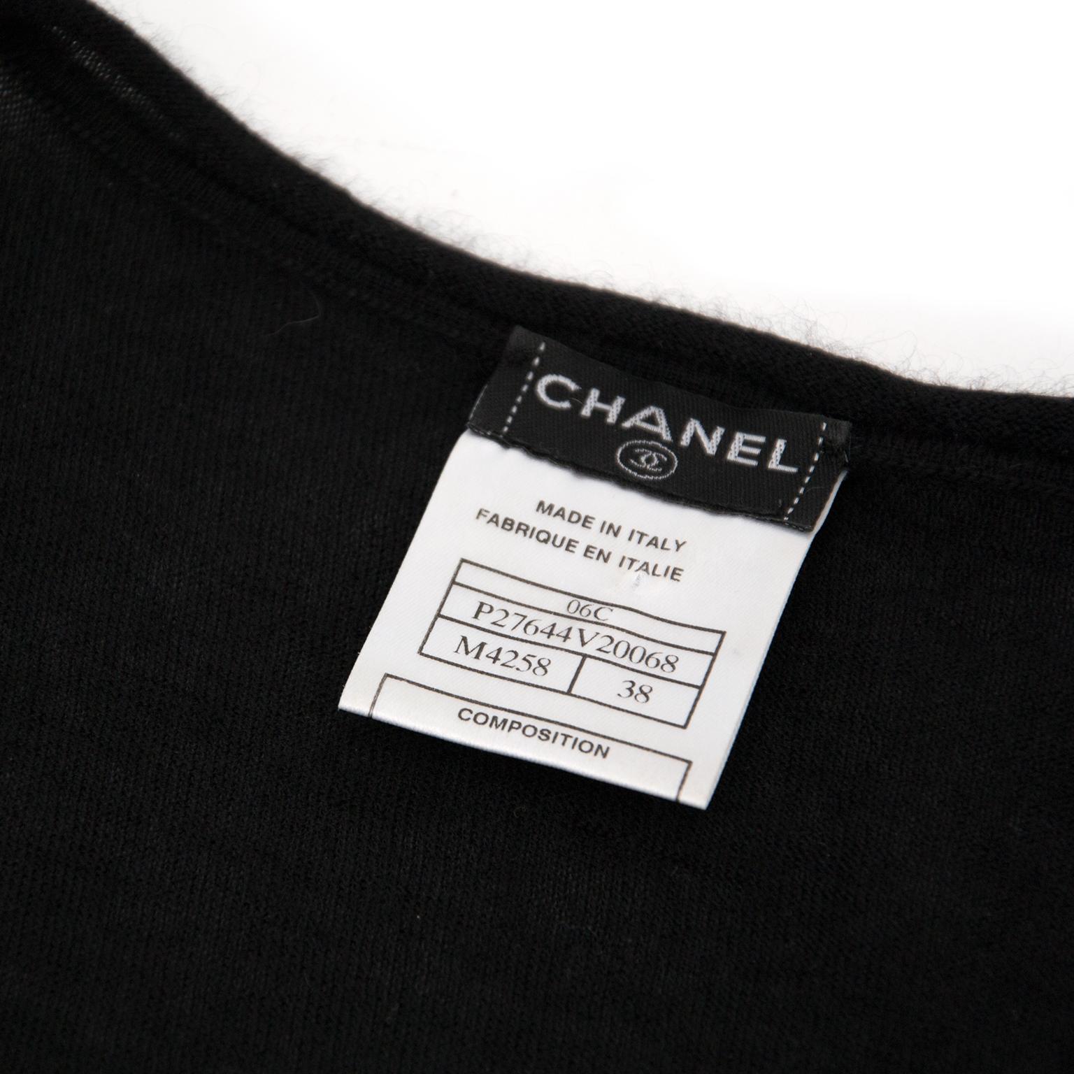 Chanel Cashmere Paris Top - Size 38 available online at Labellov.com