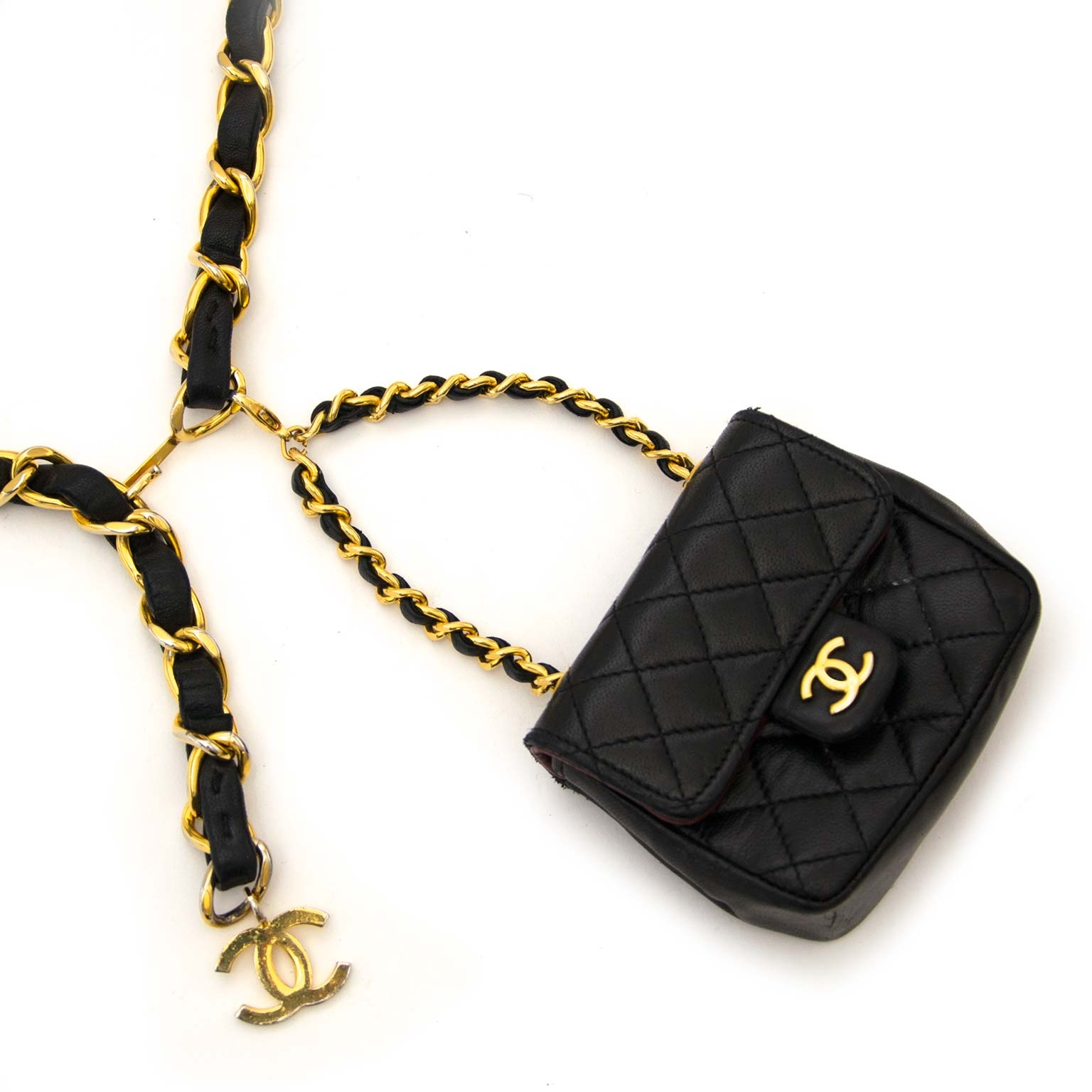c90aa86e14cb ... Labellov Buy and sell your authentic Very Rare Chanel Quilted Mini  Chain Belt Bag for the best