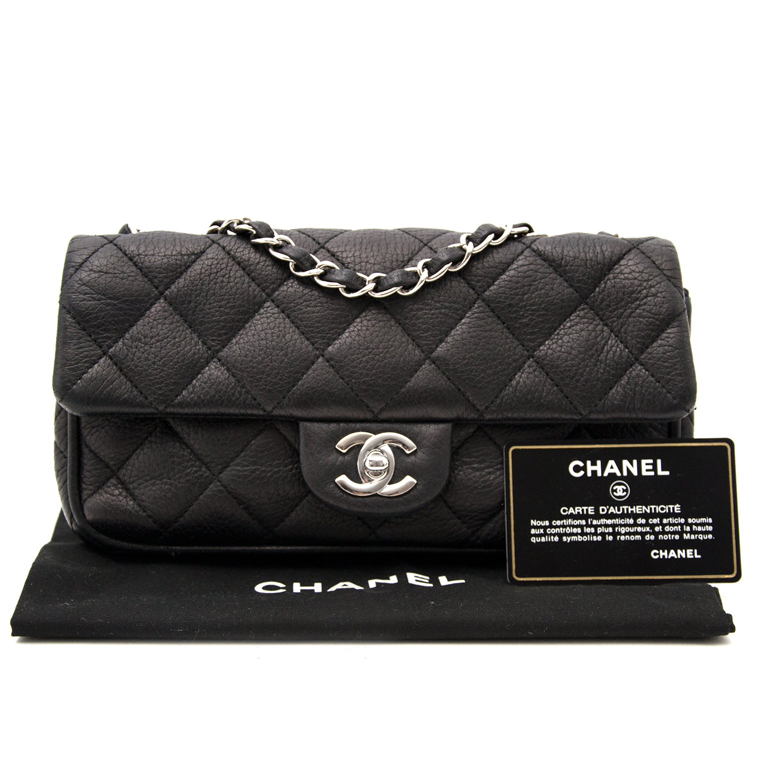 Looking for a Chanel Black East West Flap Bag?