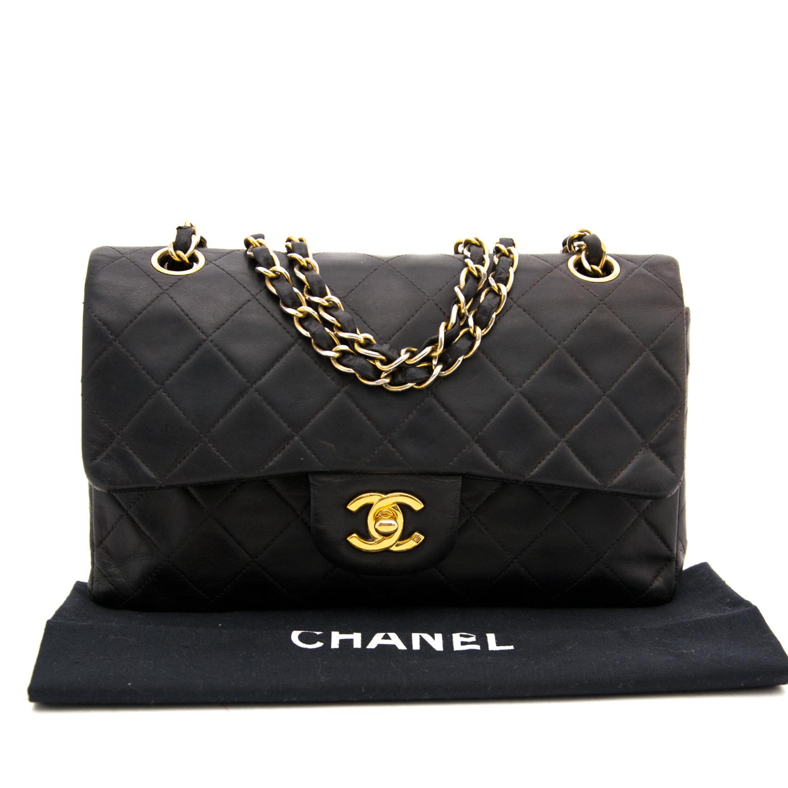 59ac1ad69a5d ... shop safe online secondhand designer secondhand Chanel Black Vintage  Double Classic Flap Bag