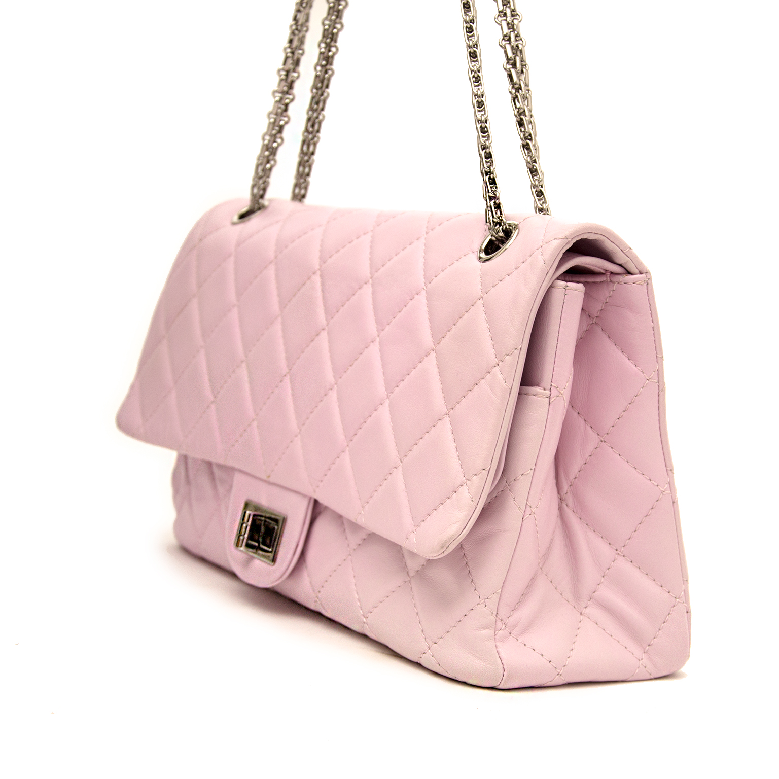 ad631597df86d8 ... shop safe online at the best price chanel 2.55 reissue double flap  lilac like new webshop