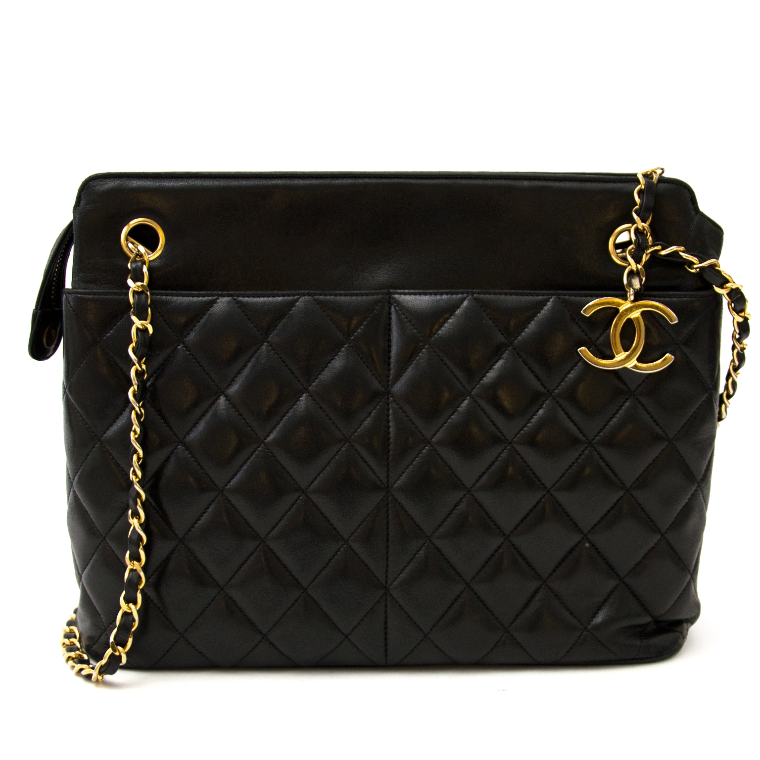 99b0ecbfc90bb5 ... koop Chanel Black Vintage Lambskin Shopper bij labellov en betaal  veilig online