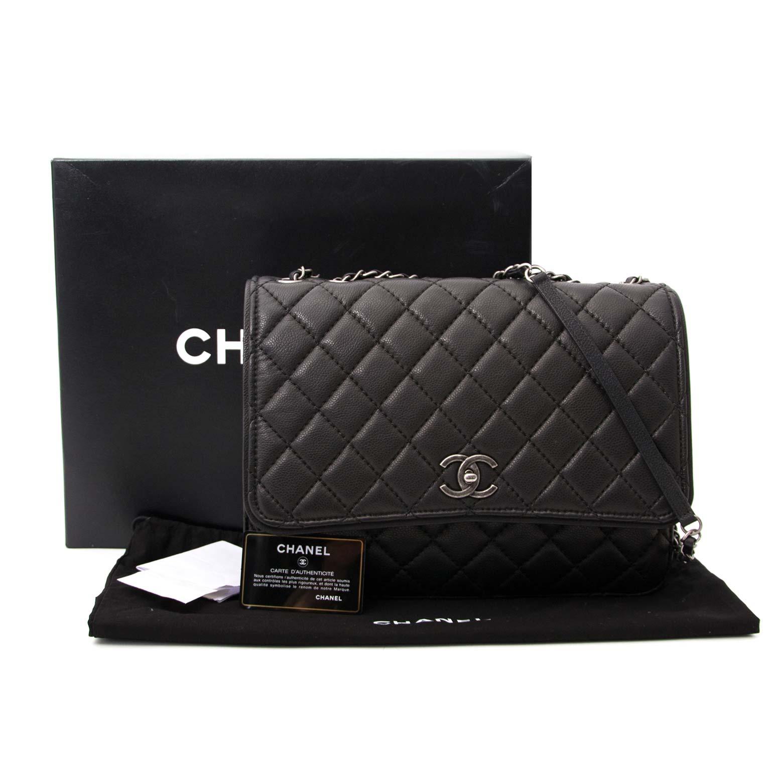 9bbc000310ac62 ... acheter en linge seconde main Chanel Black Caviar 3 Bag pour le  meilleur prix