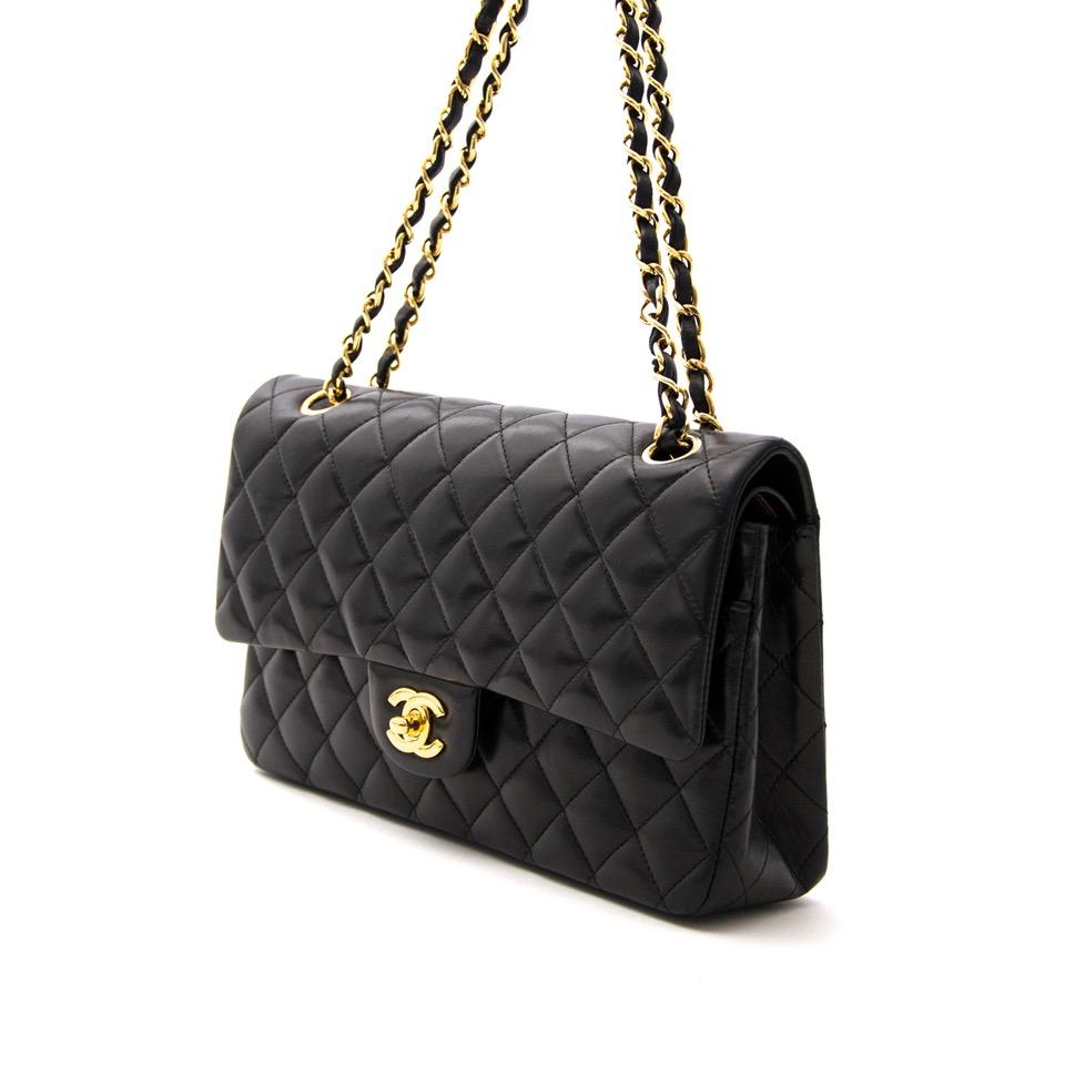... comme neuf sac a main Chanel Medium Lambskin Classic Flap Bag GHW pour  le meilleur prix 27976c09f87fb