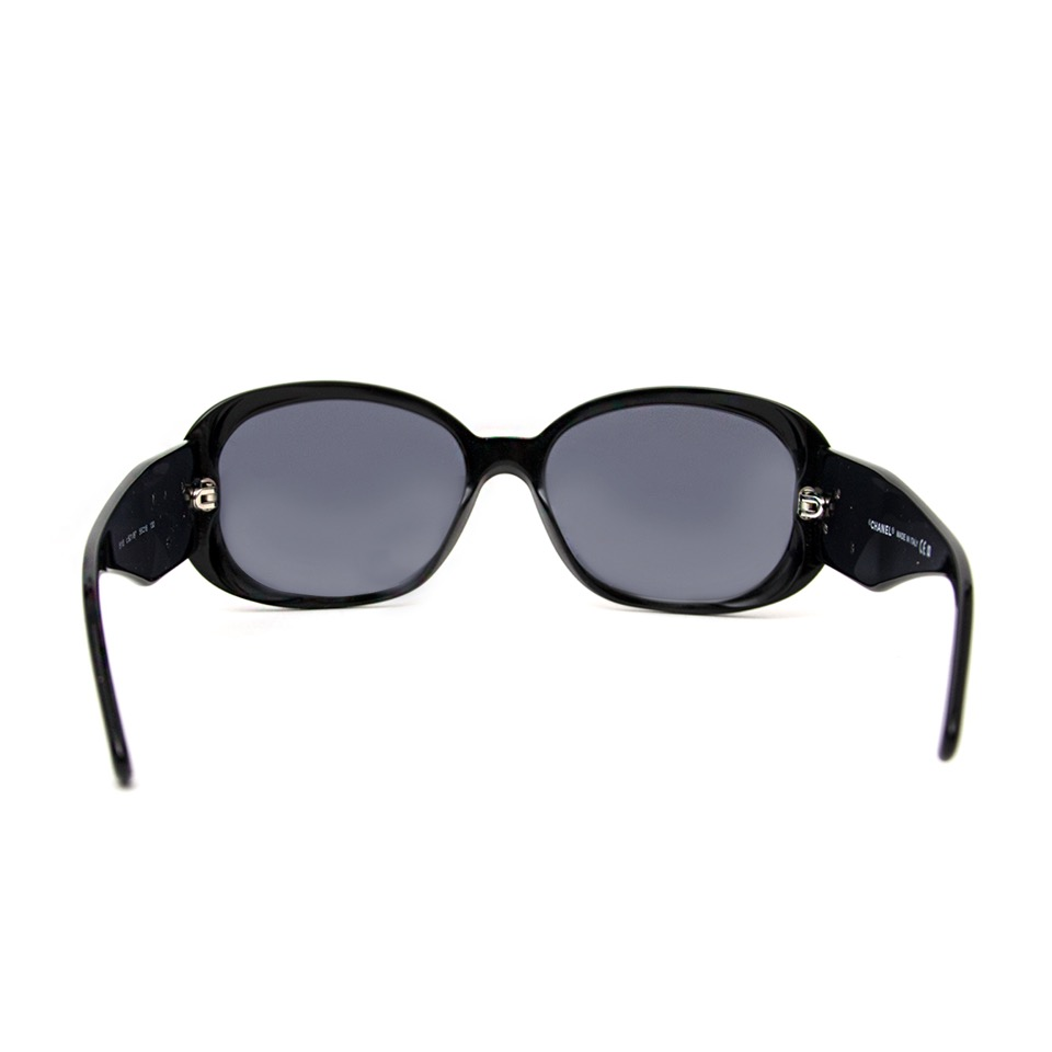 Labellov Chanel Black Sunglasses White Flowers ○ Buy and Sell ...