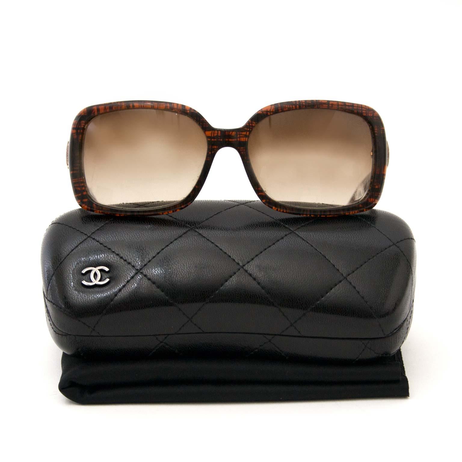 127f4a04321 authentieke Chanel Brown Glitter Sunglasses te koop bij labellov authentic  Chanel Brown Glitter Sunglasses for sale at labellov