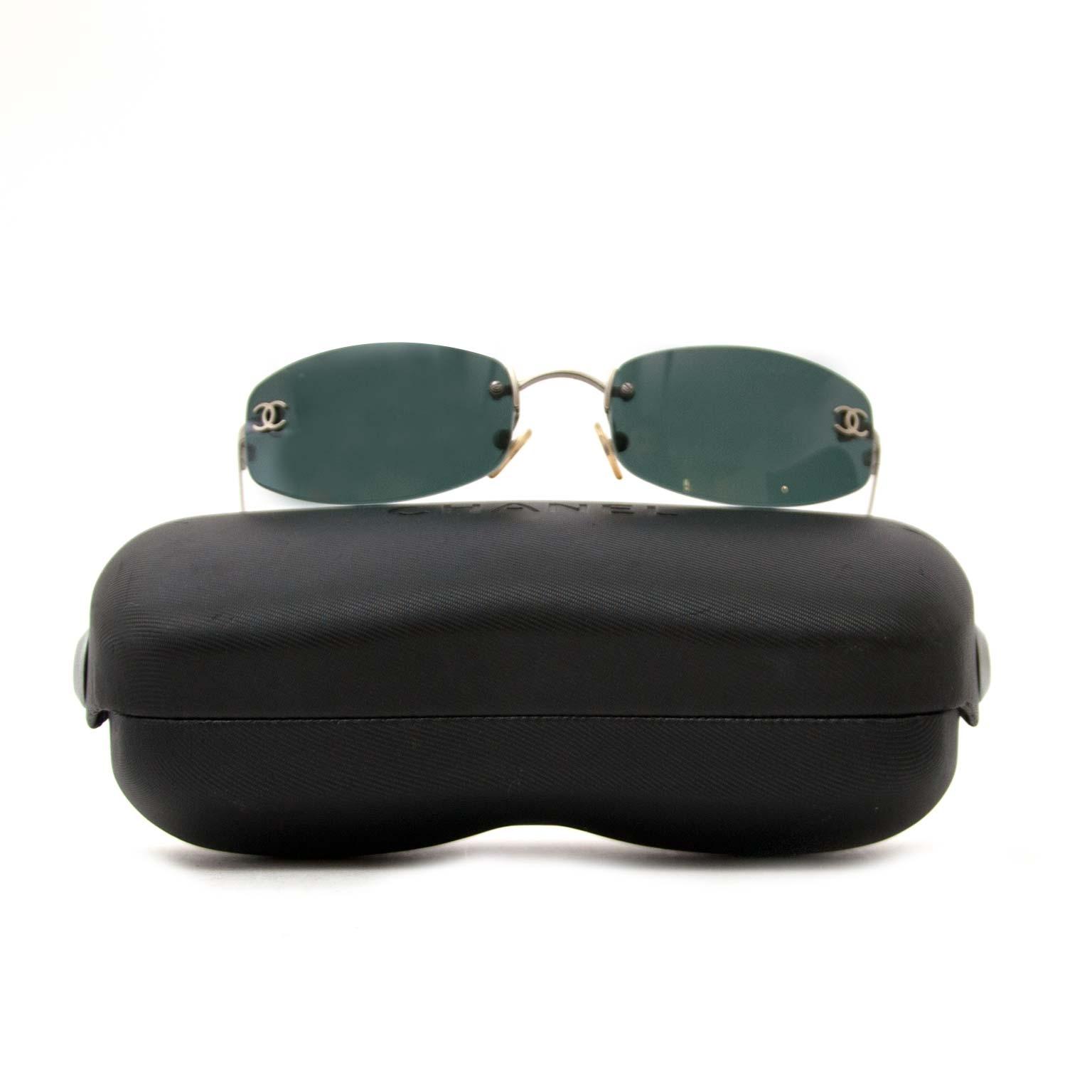 koop chanel rimless cc aviator zonnebril nu online bij labellov vintage mode webshop belgië