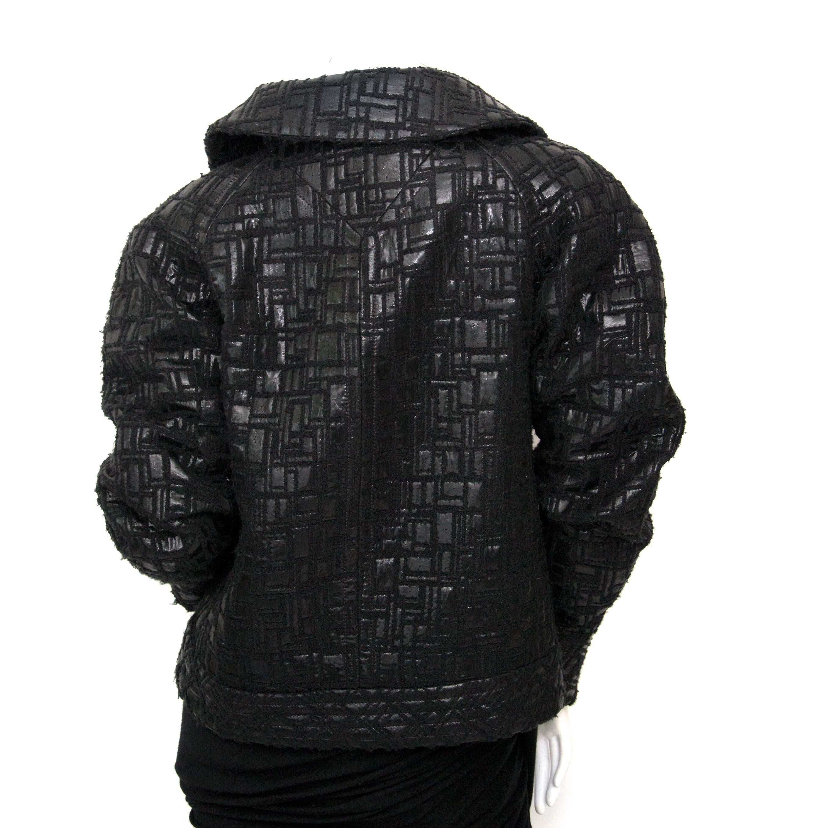 ed28341c794c ... Bent u op zoek naar een authentieke Chanel Black Textured Wool Jacket