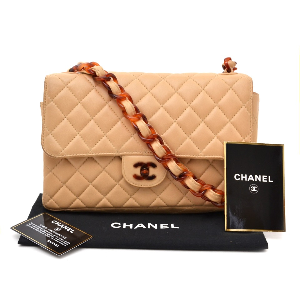 59976bd704c0f1 Chanel Classic Flap Bag Nude with Tortoise Details for the best price  available online at Labellov Koop Chanel in Antwerpen aan de beste prijs  bij Labellov