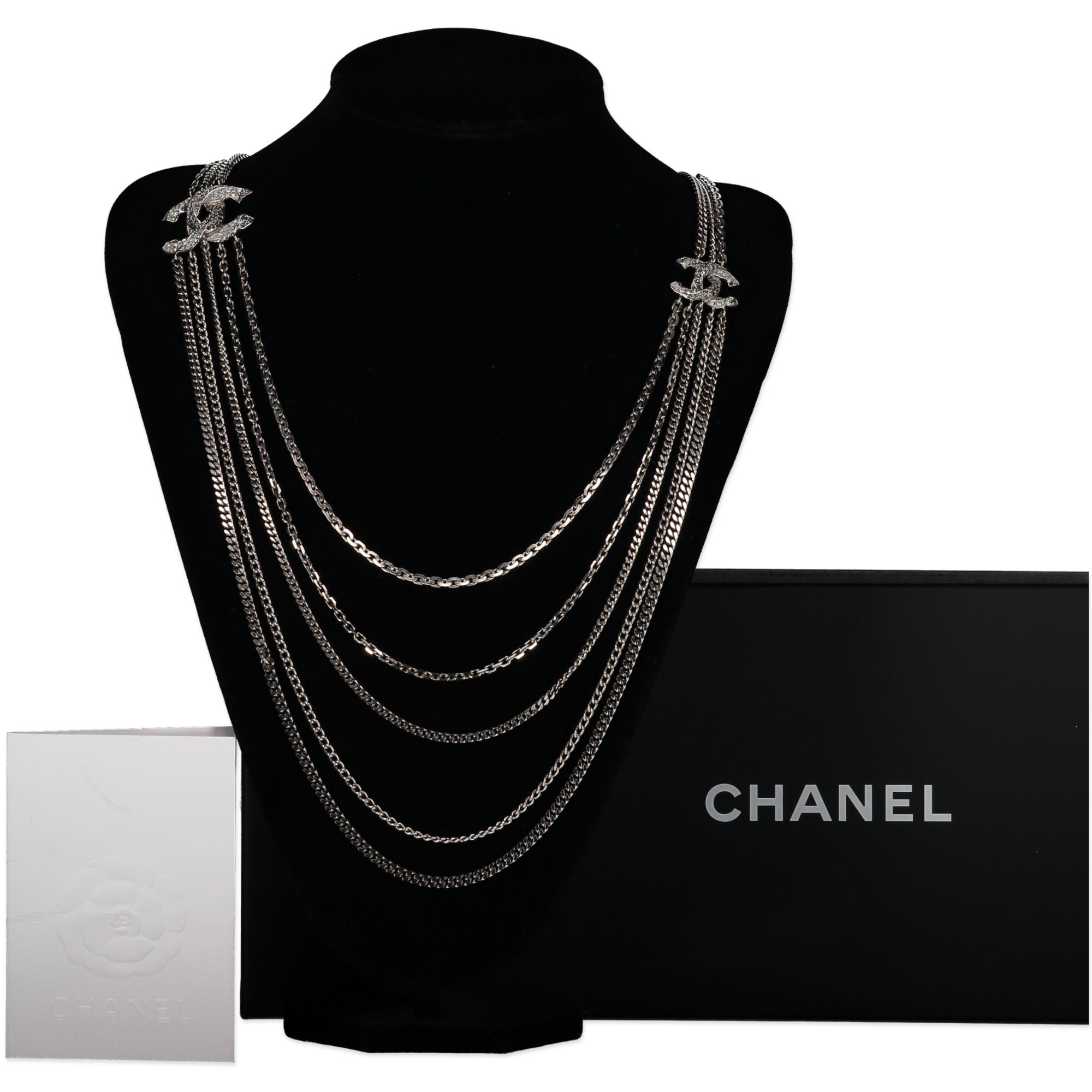 Chanel Silver Chain Logo Belt/Necklace