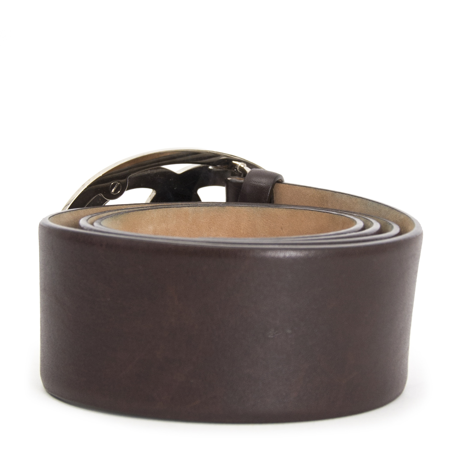 Are you looking for an authentic Chanel Brown Leather Belt?