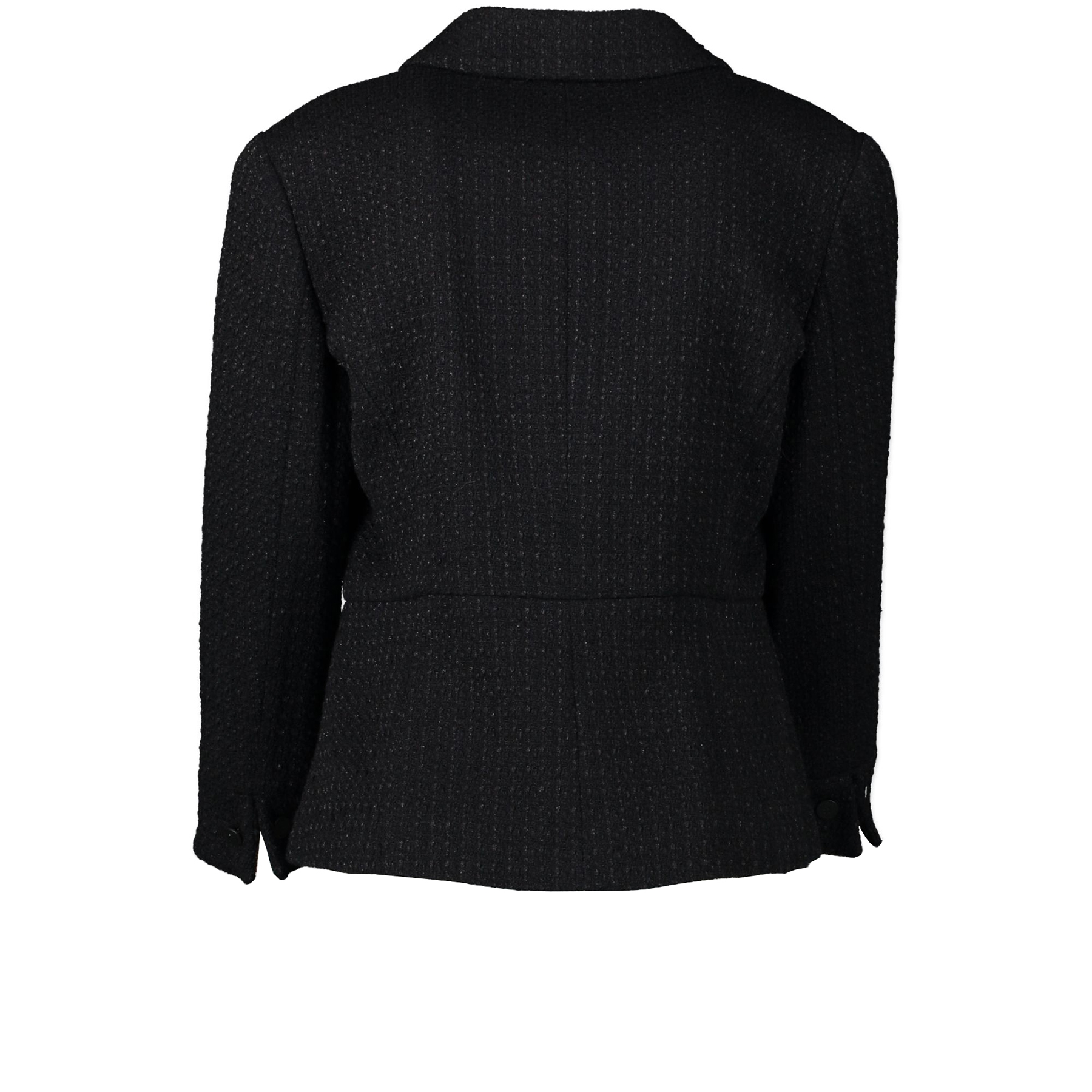 Authentic second-hand vintage Chanel Black Tweed Jacket - Size 42 buy online webshop LabelLOV
