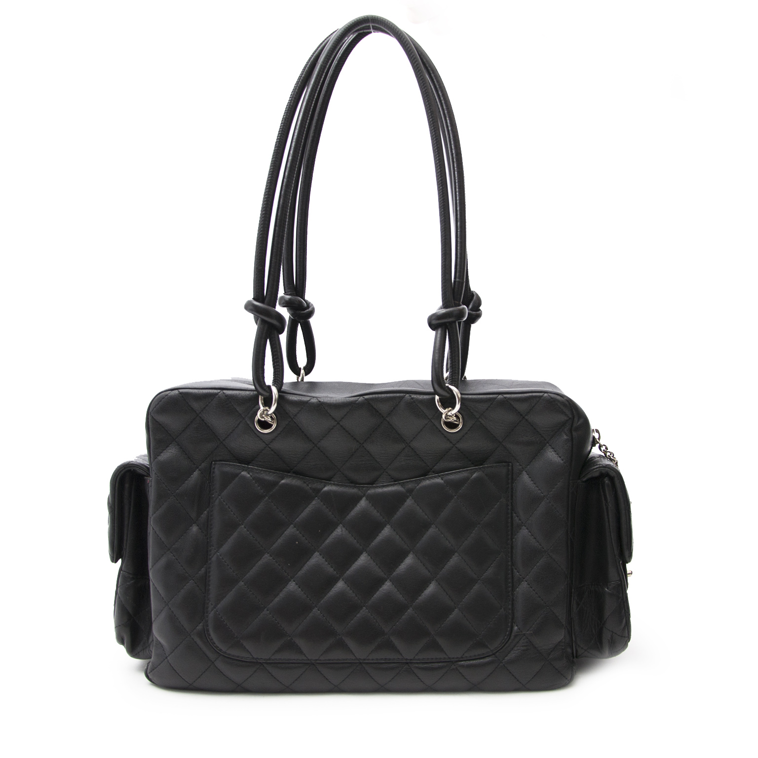 We buy and sell your secondhand designer handbags and accessories such as the Chanel Cambon Reporter Bag for the best price