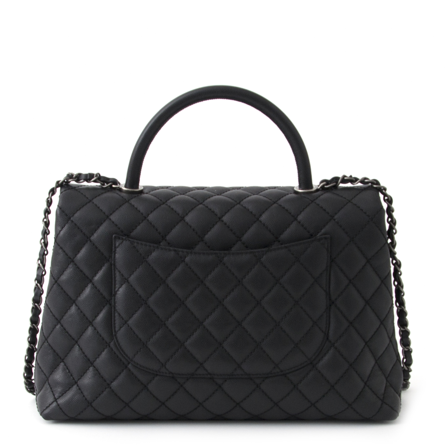 3ddb3a8b19b40d ... shop your designer Chanel Black Flap Bag With Handle at the best price  like new online