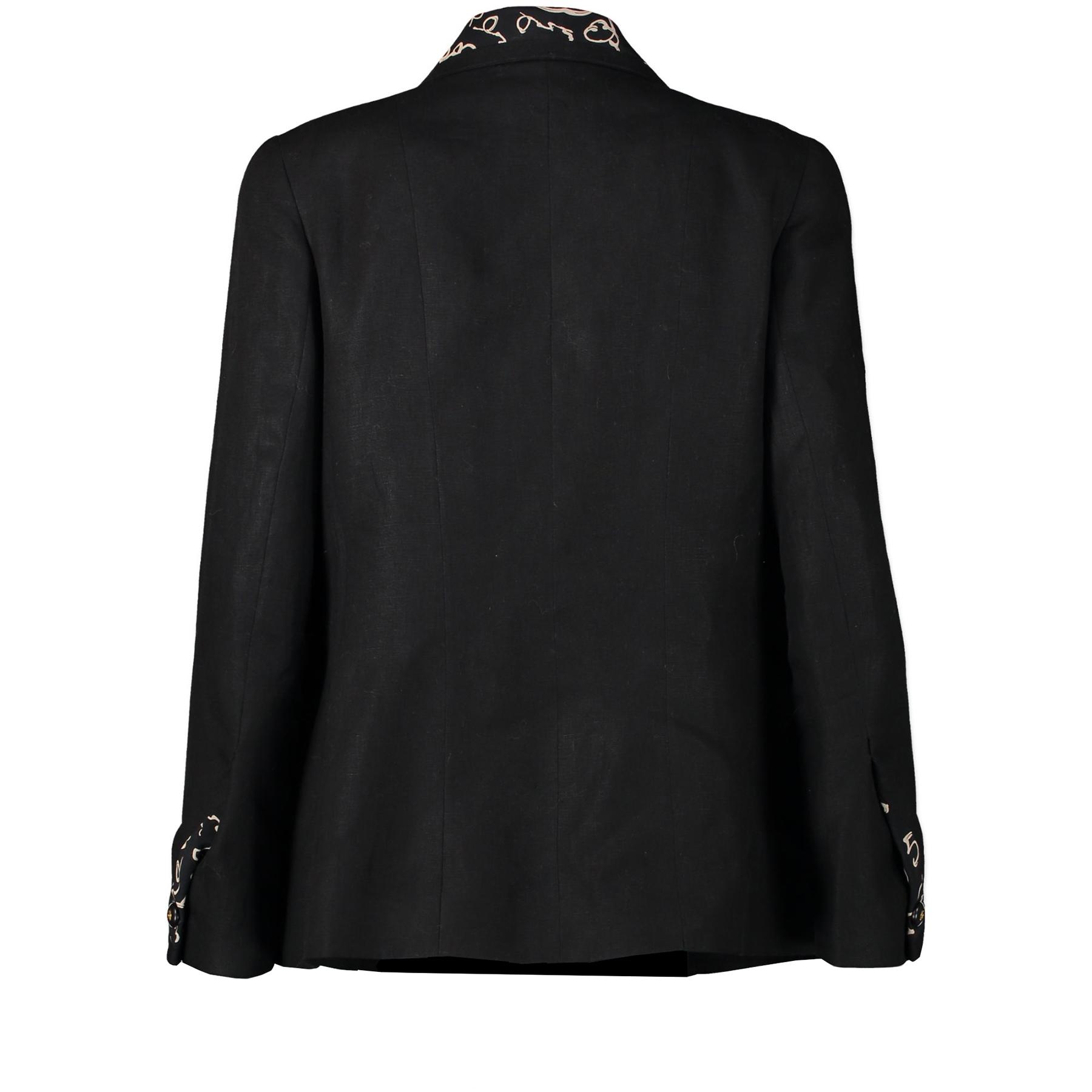 Chanel Black Linen Blazer pour le meilleur prix chez Labellov à Anvers