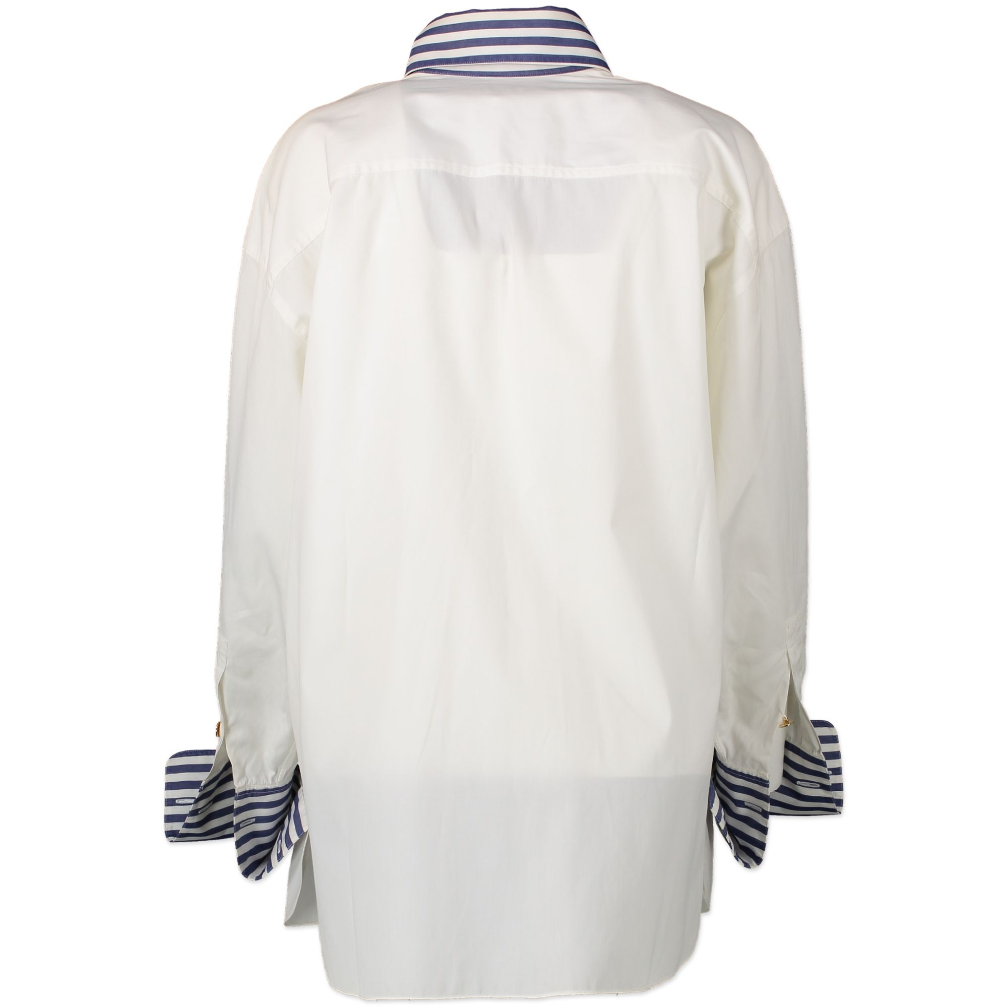 Chanel White Cotton Nautical-Inspired Button-Down Shirt for sale