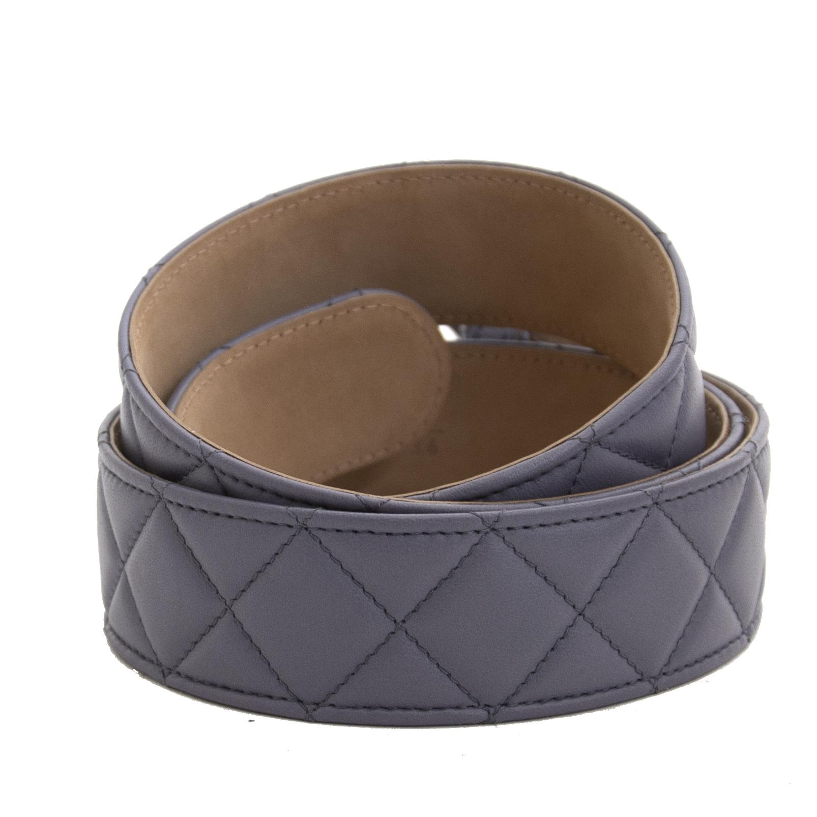 acheter en ligne seconde main Chanel Lavender Belt - Size 90