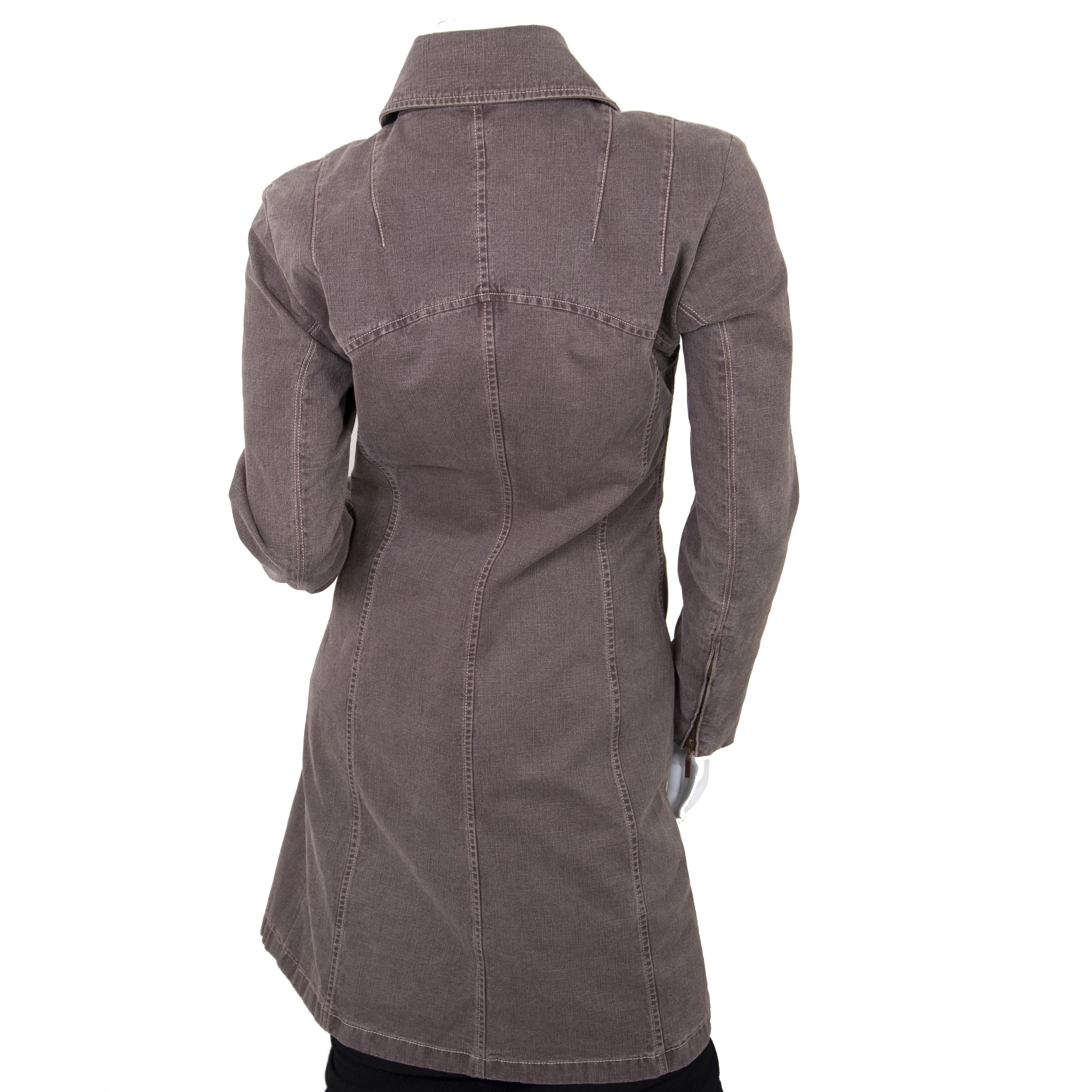 Chanel Brown Denim Longline Jacket manteau en jean pour le meilleur prix chez Labellov à Anvers