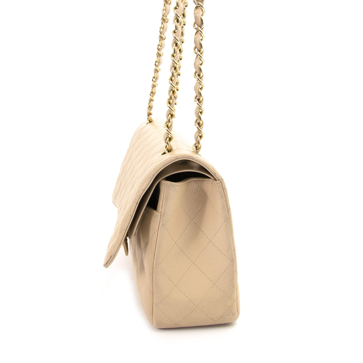 koop  Chanel Jumbo Beige Double Classic Flapbag GHW en betaal veilig online bij labellov.com
