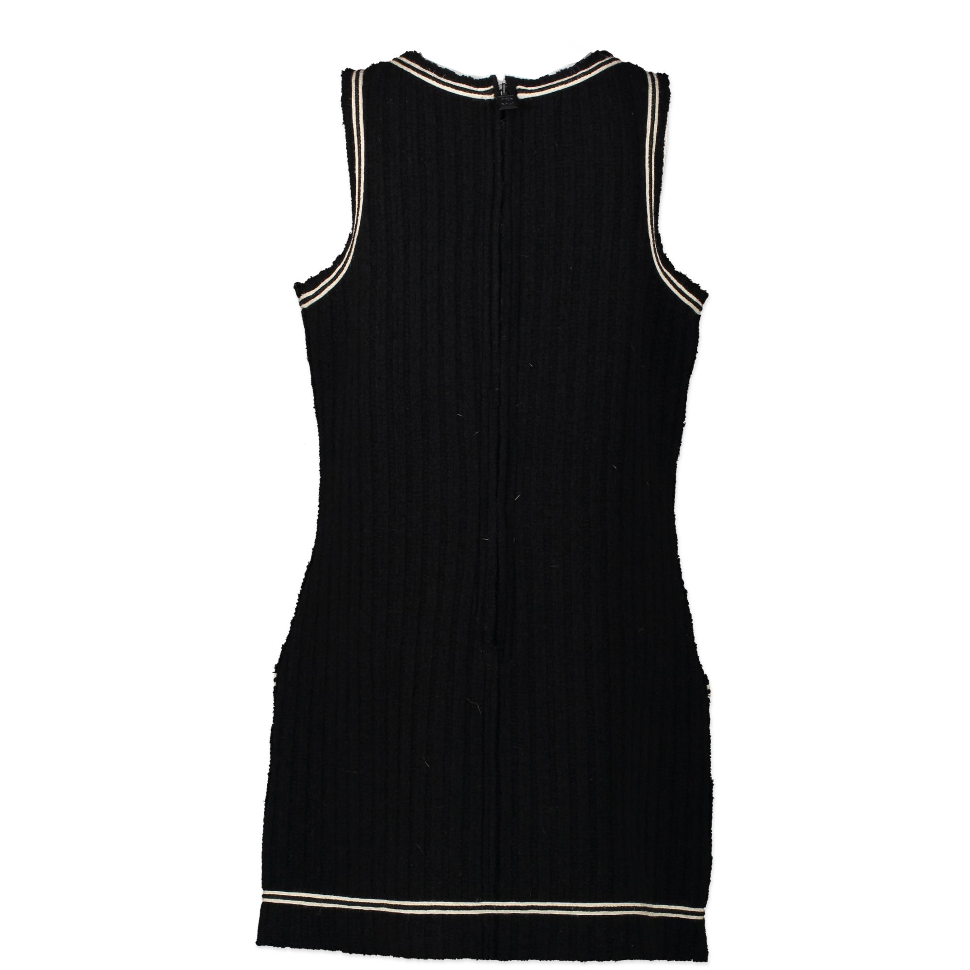 Chanel Wool Black Sports Dress