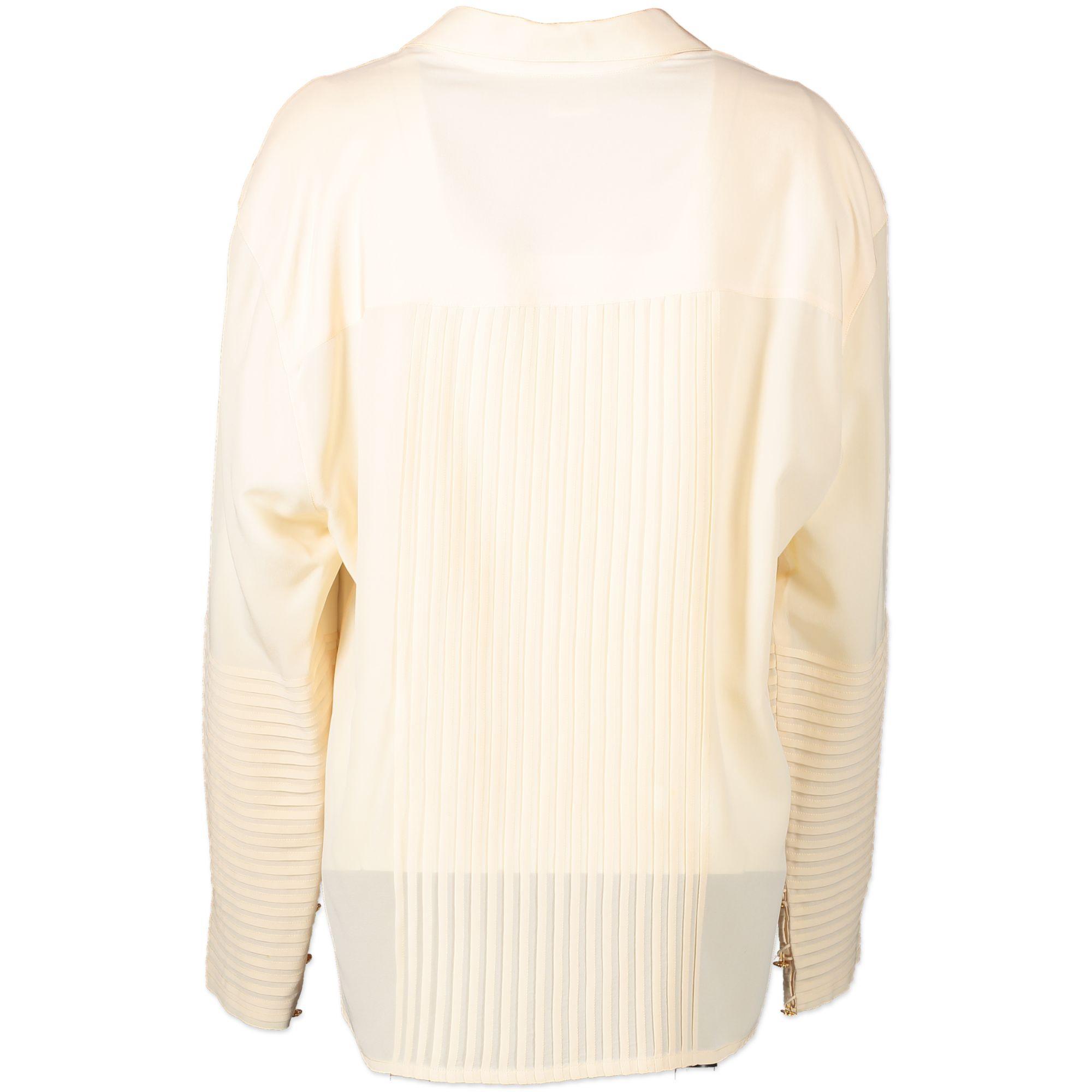 Chanel Silk Cream Blouse