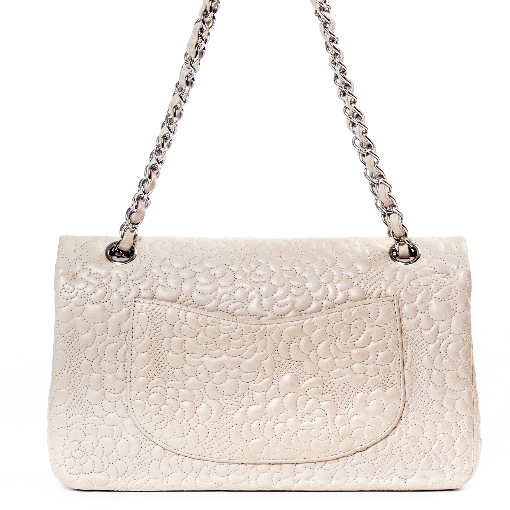 1896707efdb1b1 ... achetez Chanel Classic Flapbag Quilted Flower Medium chez labellov