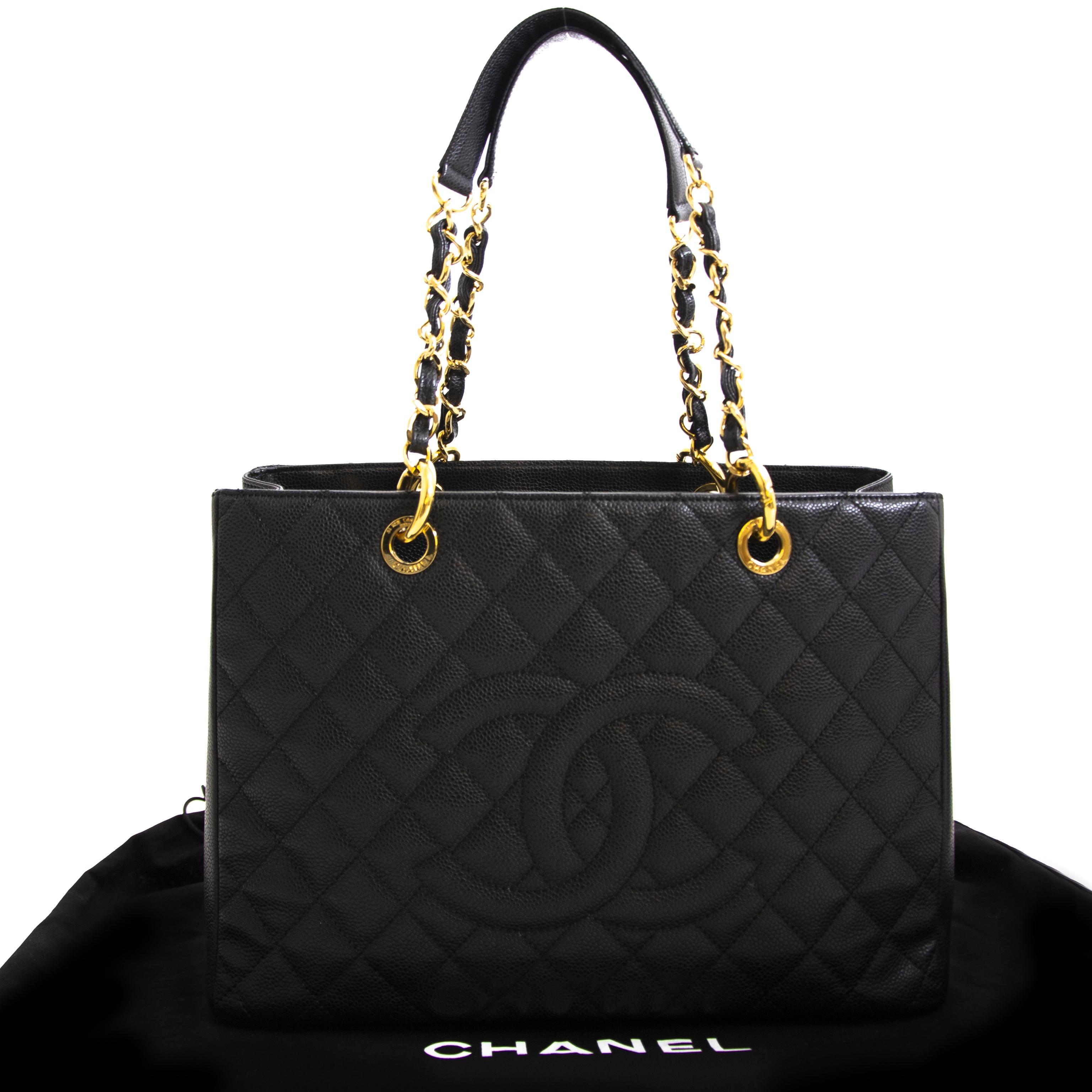 a4f55747453c Chanel GST Black Caviar Shopping Tote Chanel GST Black Caviar Shopping Tote  acheter en ligne pour le meilleur prix