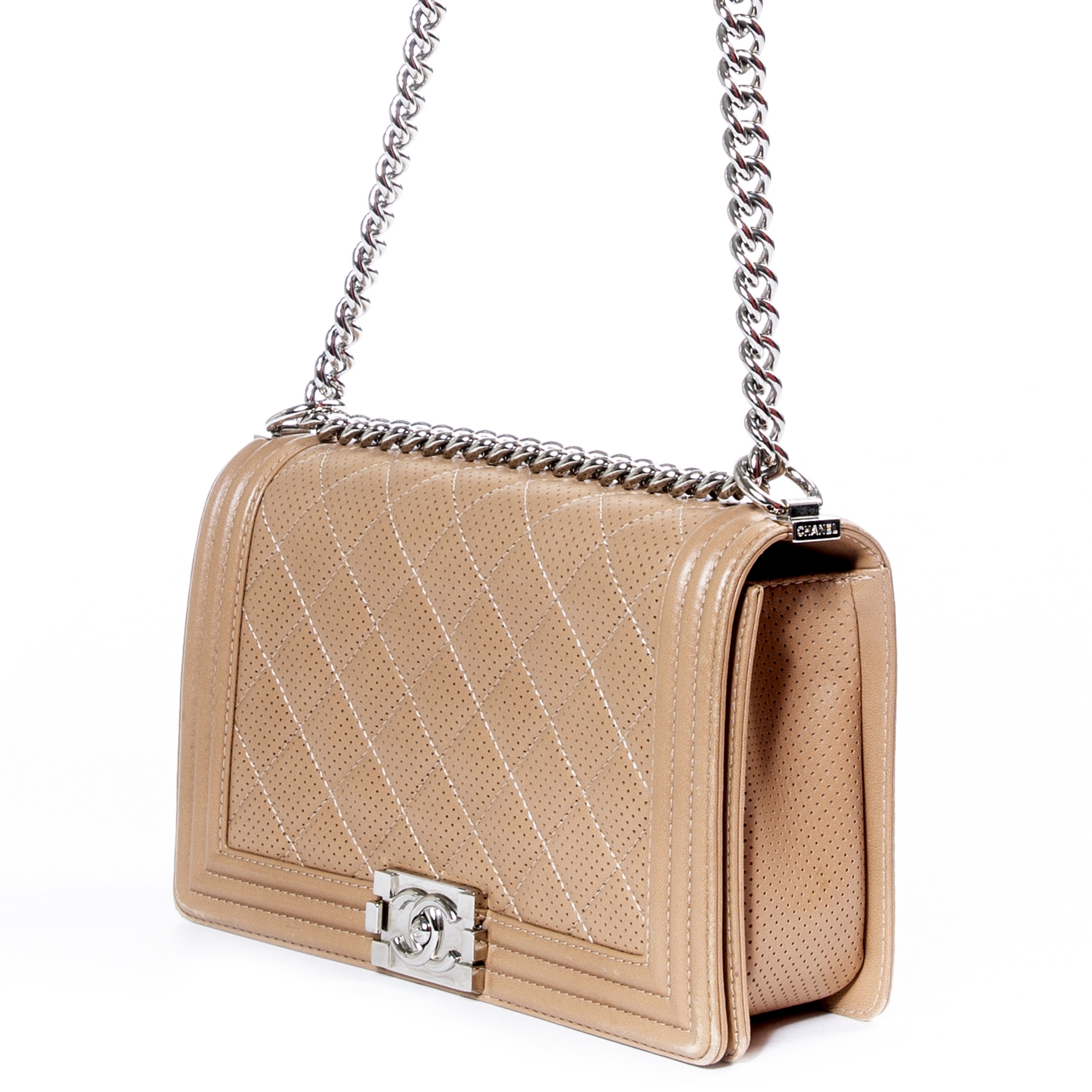 Are you interested in a Chanel Beige New Medium Boy Perforated Bag