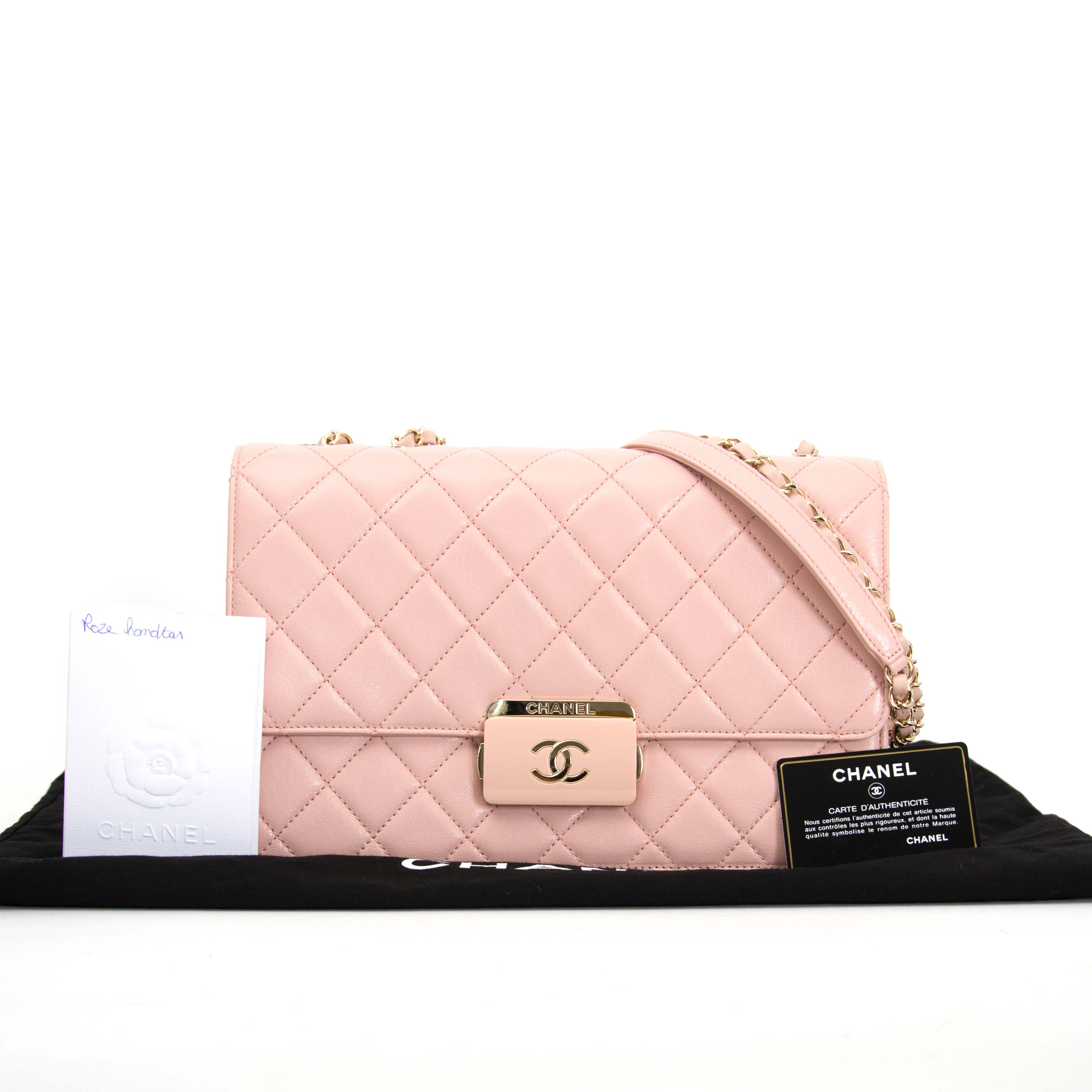 looking for a secondhand Chanel Pink Sheepskin Flap Bag